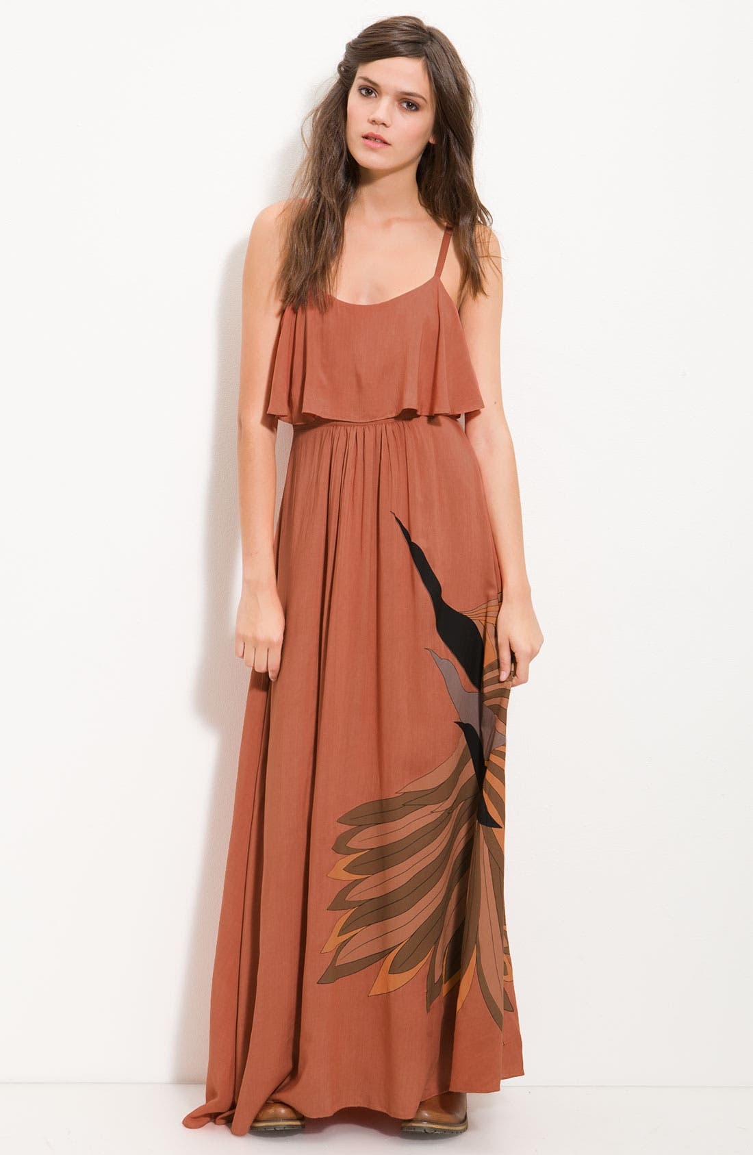 Alternate Image 1 Selected - Free People 'Flock of Birds' Statement Print Maxi Dress