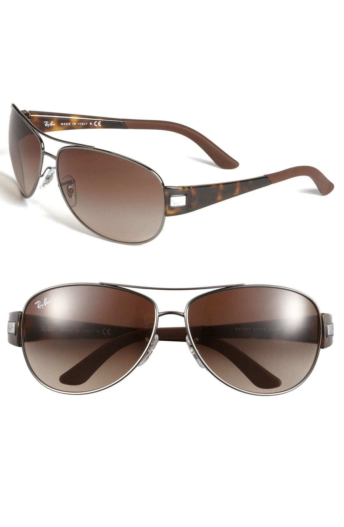 Alternate Image 1 Selected - Ray-Ban 'Morphed' 63mm Aviator Sunglasses