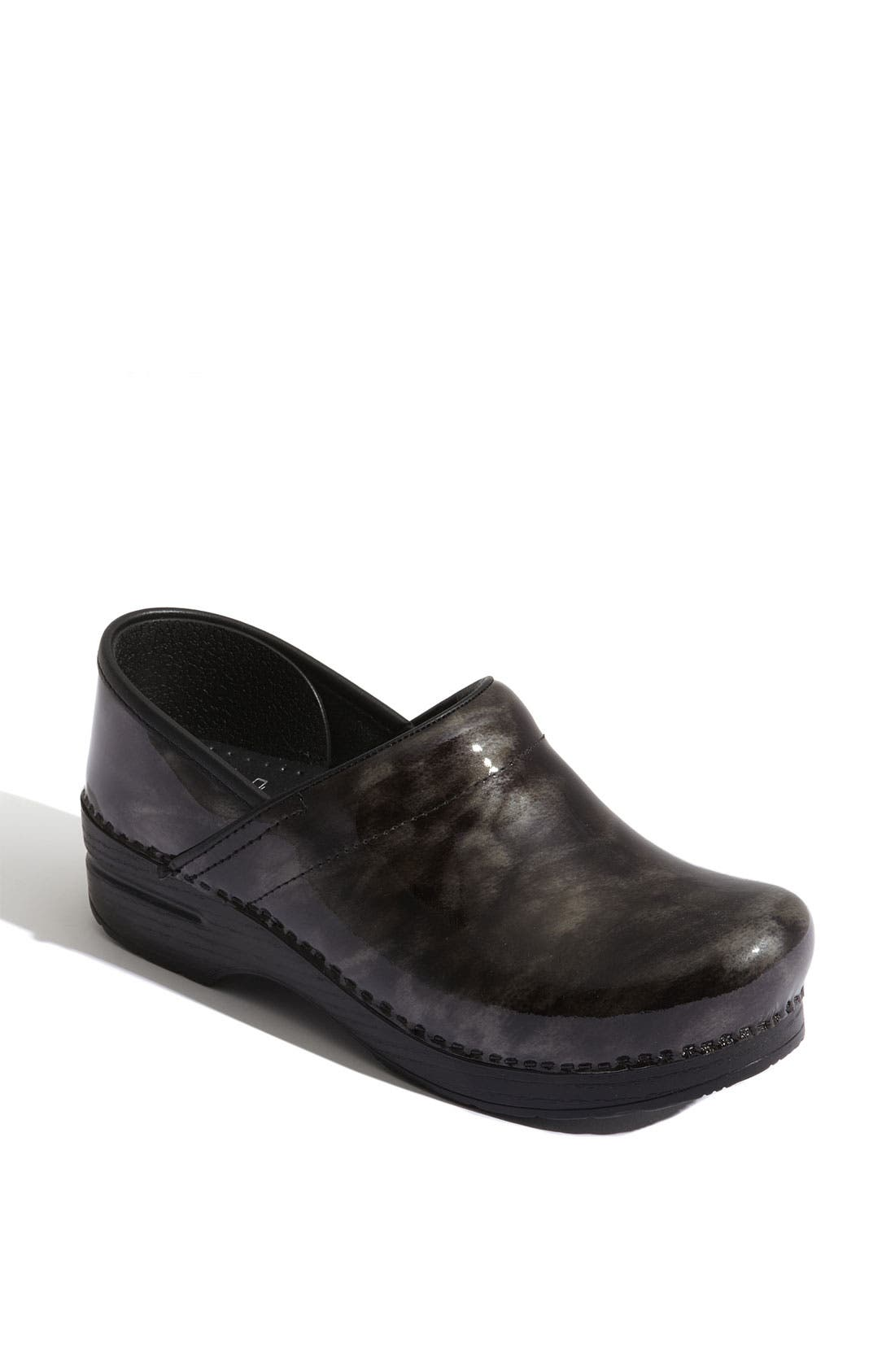 Alternate Image 1 Selected - Dansko 'Professional' Marbled Patent Leather Clog (Special Purchase)