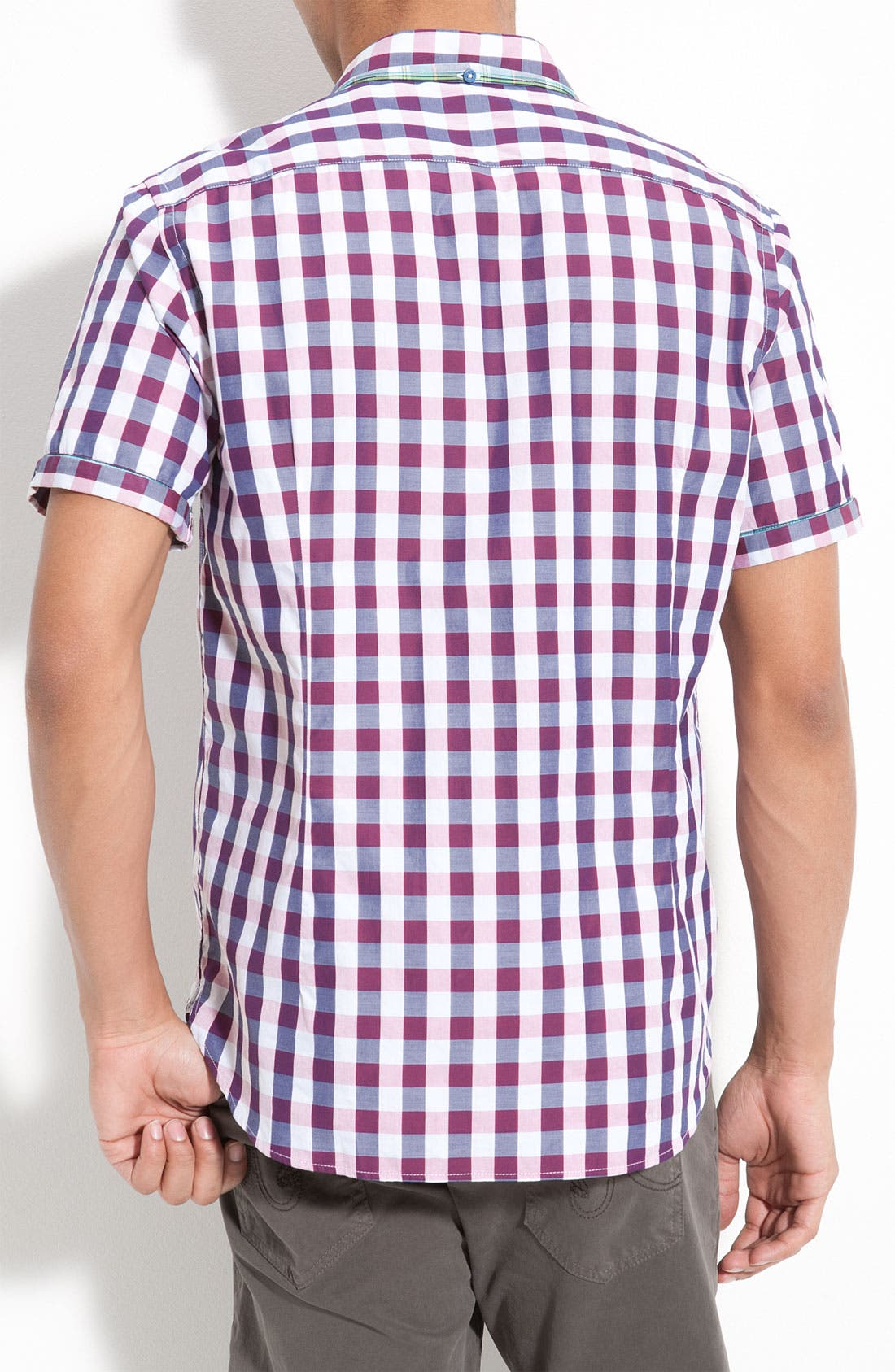 Alternate Image 2  - Ted Baker London Check Plaid Woven Shirt