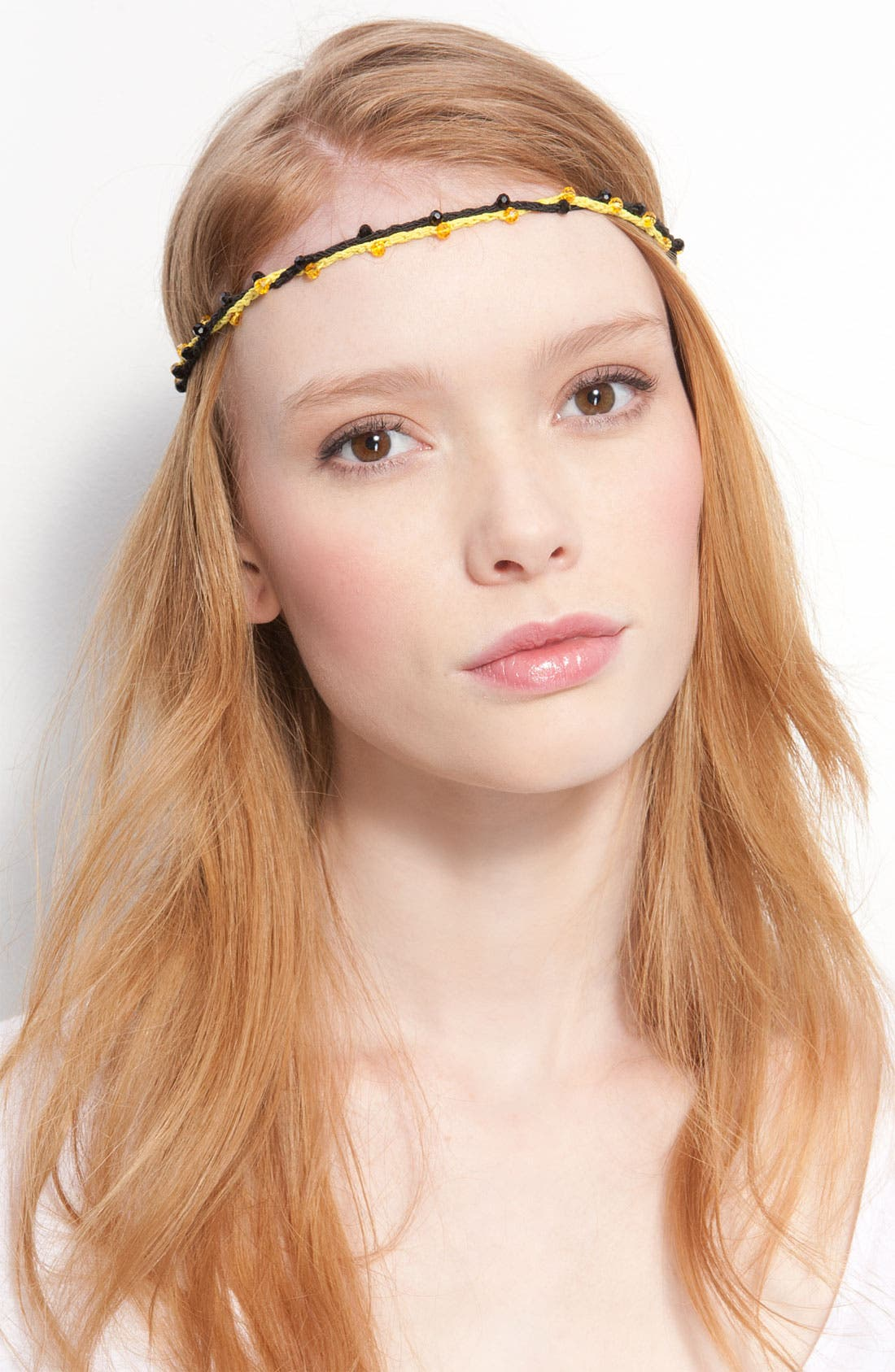 Alternate Image 1 Selected - Juicy Couture Beaded Stretch Head Wrap