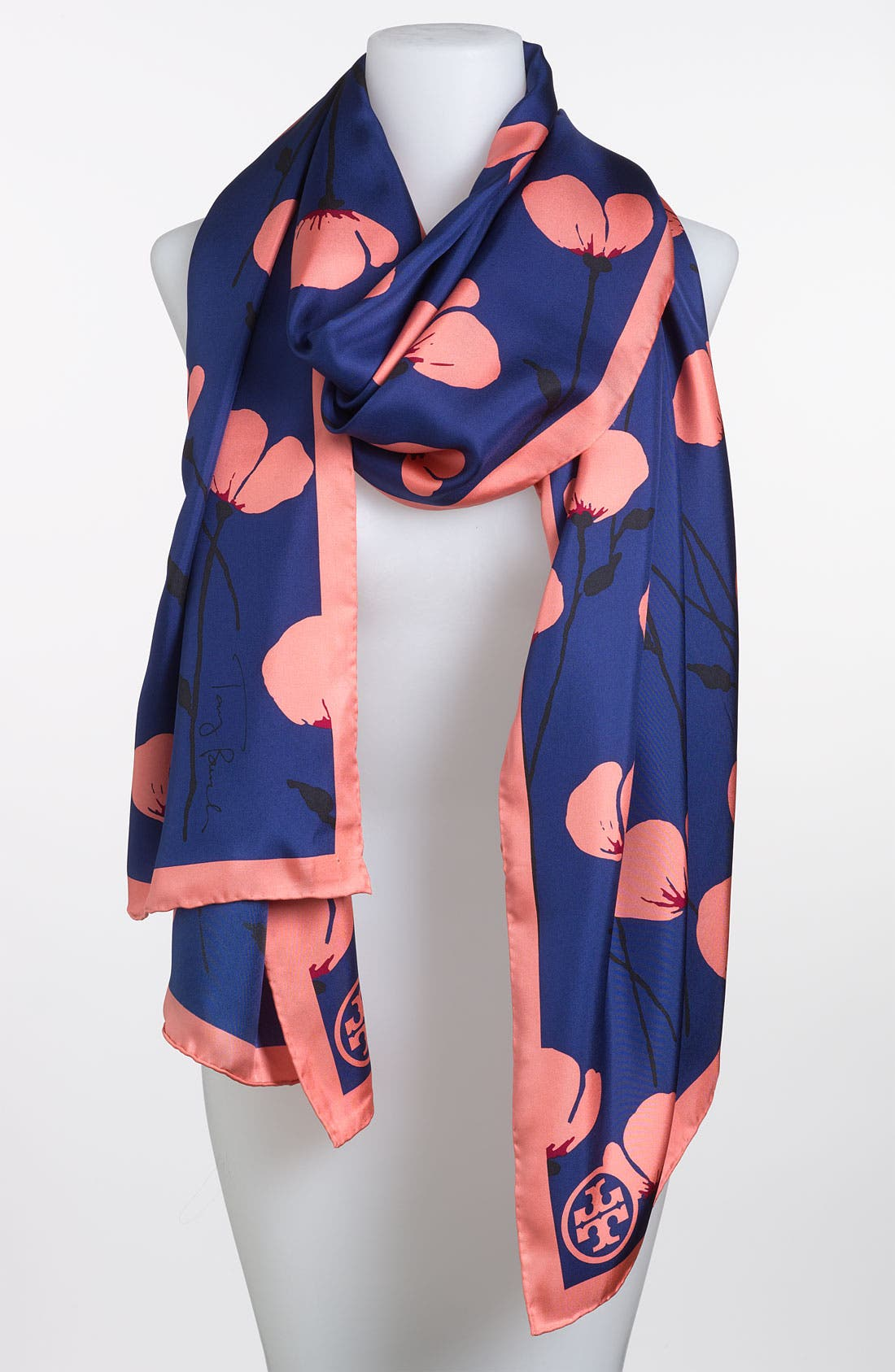 Main Image - Tory Burch 'Poppies' Silk Scarf