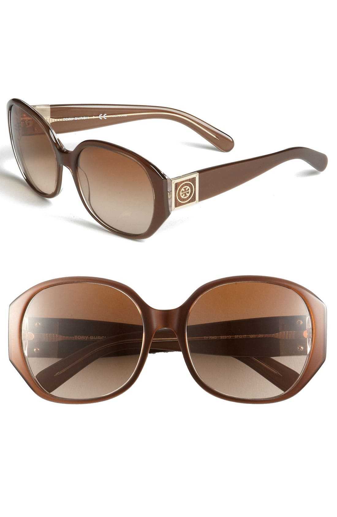 Alternate Image 1 Selected - Tory Burch 57mm Square Sunglasses