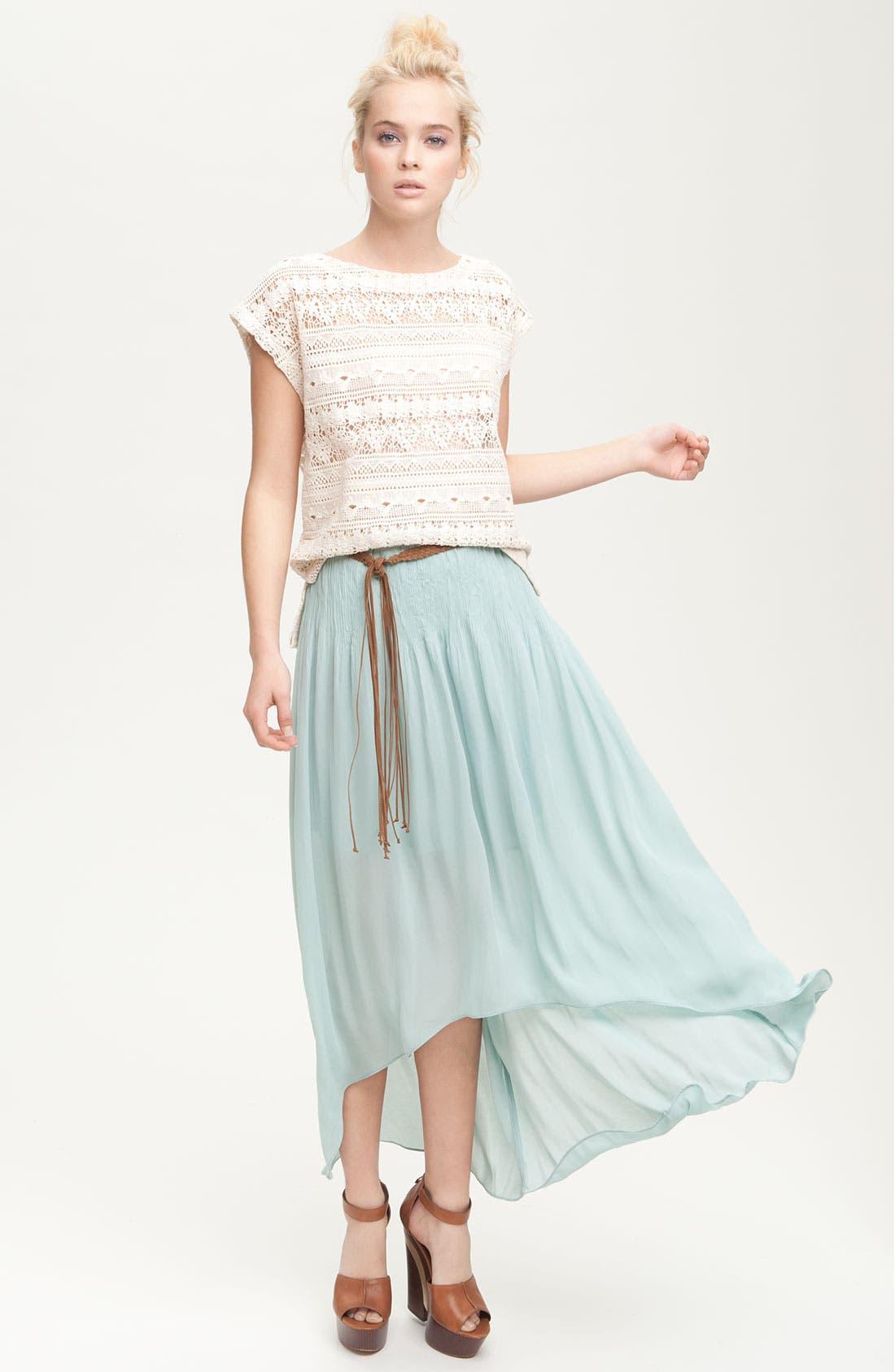 Alternate Image 4  - Sanctuary 'Leotie' Crinkled Asymmetric Maxi Skirt