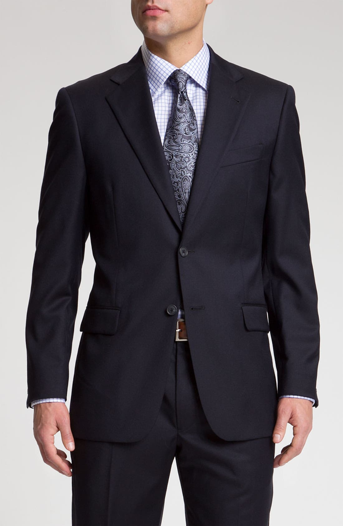 Main Image - Joseph Abboud 'Signature Silver' Navy Wool Suit