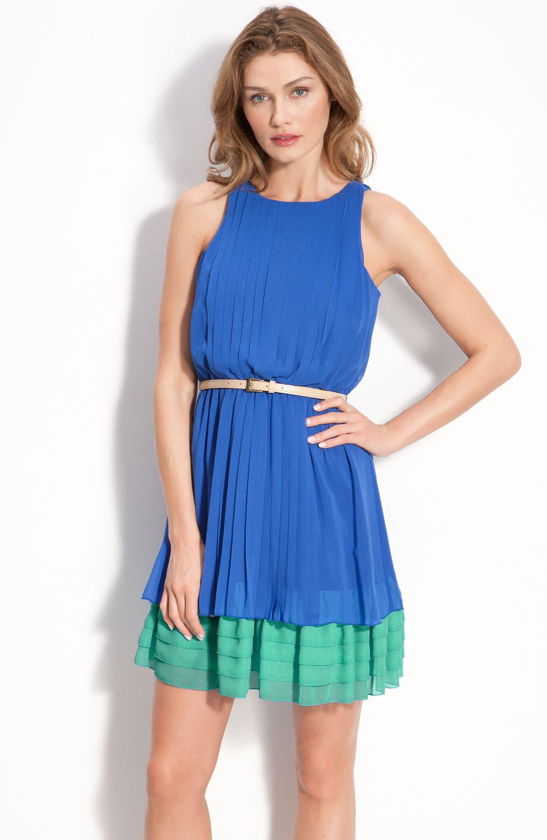 Alternate Image 1 Selected - Jessica Simpson Sleeveless Chiffon Dress