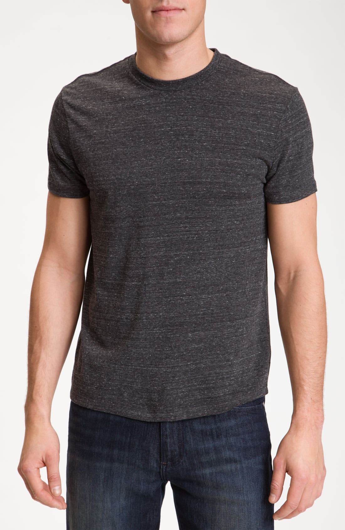 Slim Fit Crewneck T-Shirt,                         Main,                         color, Dark Charcoal Heather Grey