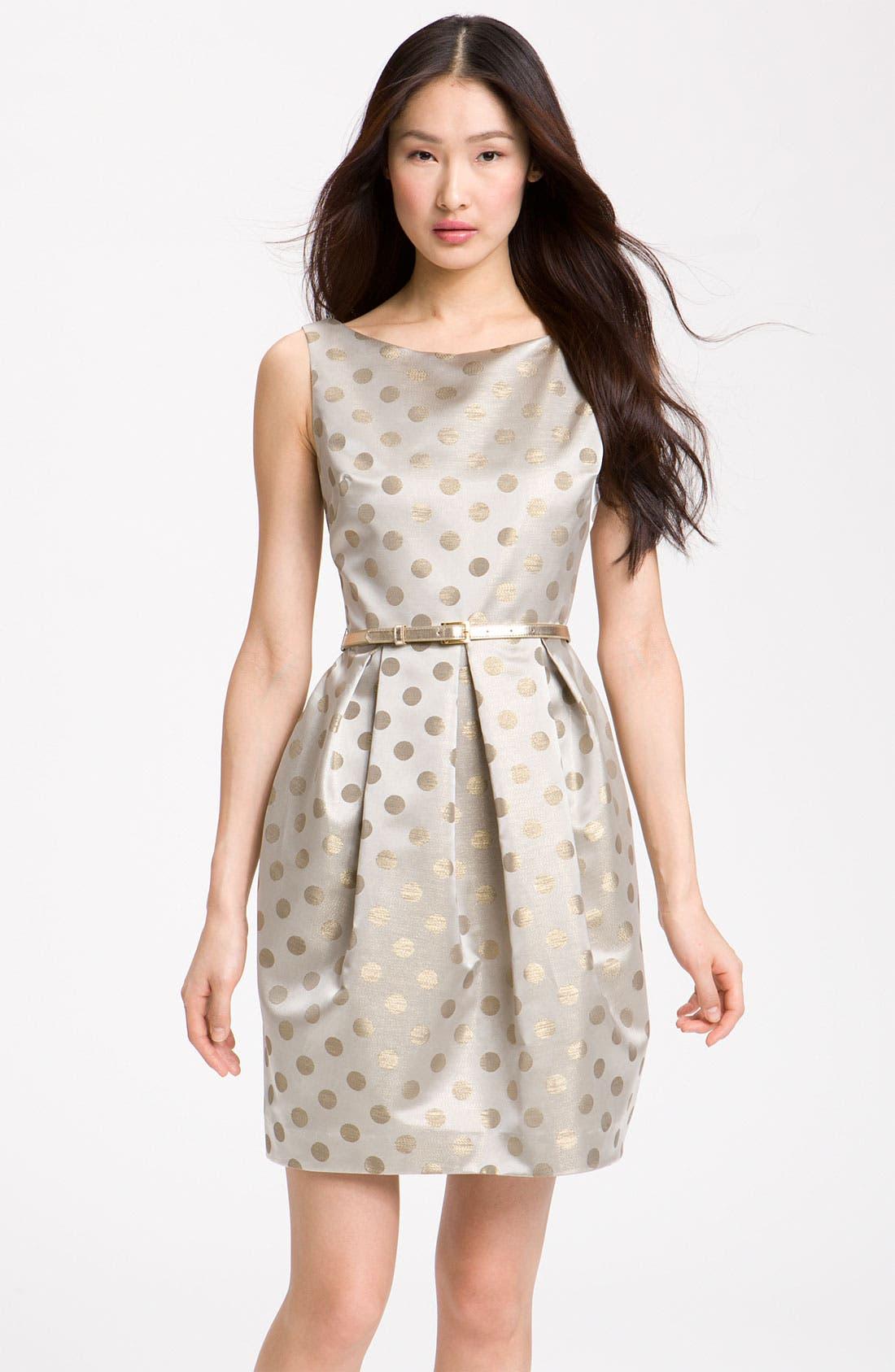 Alternate Image 1 Selected - Eliza J Belted Satin Dress