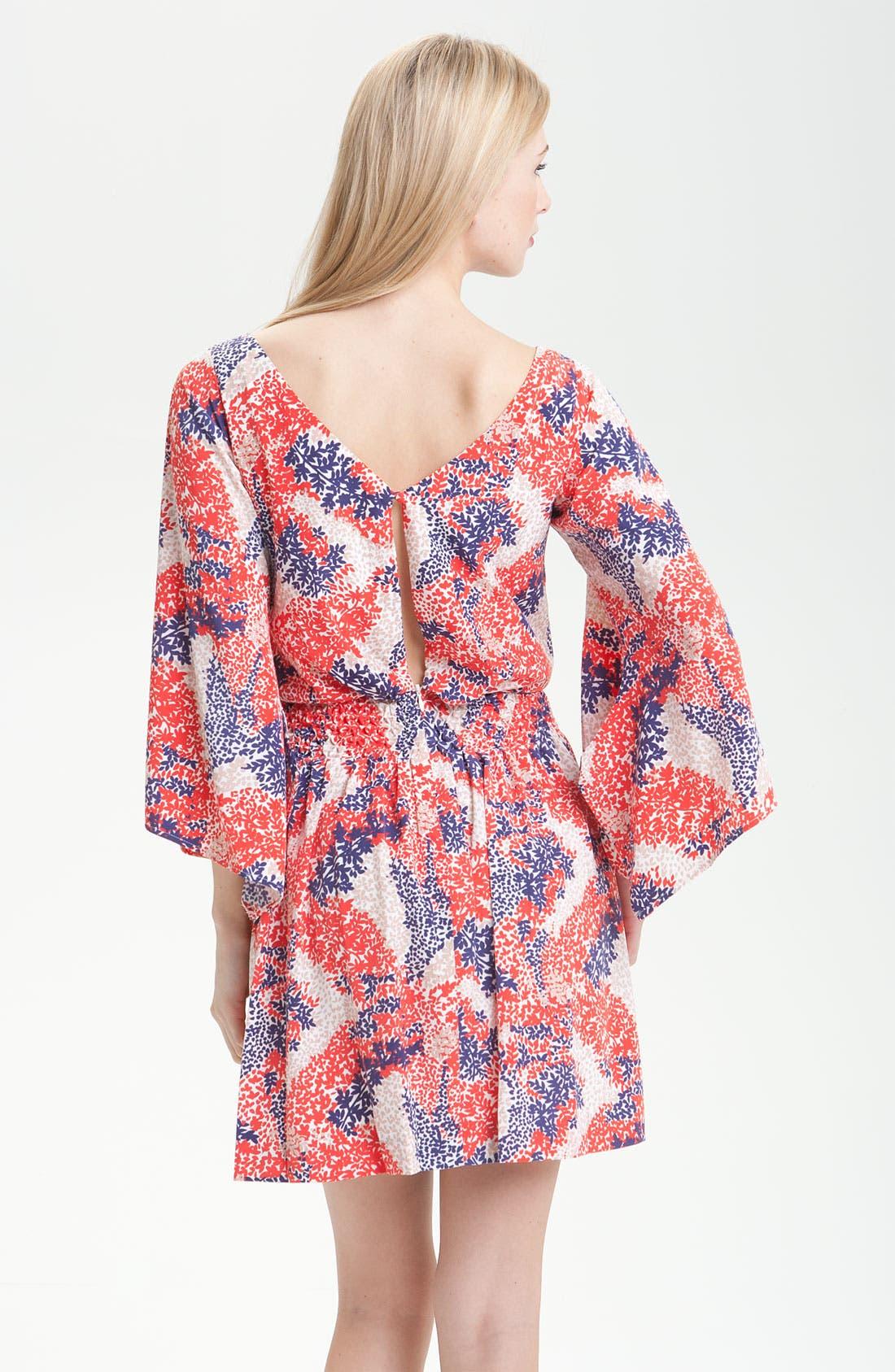 Alternate Image 2  - Jessica Simpson Smock Waist Kimono Sleeve Dress