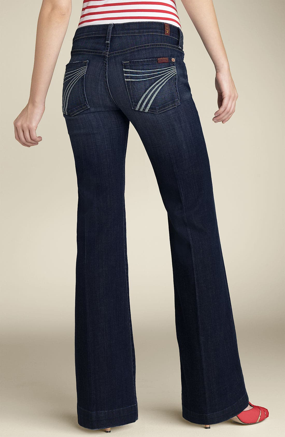 Alternate Image 1 Selected - 7 For All Mankind® 'Dojo' Stretch Trouser Jeans (Indigo Wash) (Short Inseam)