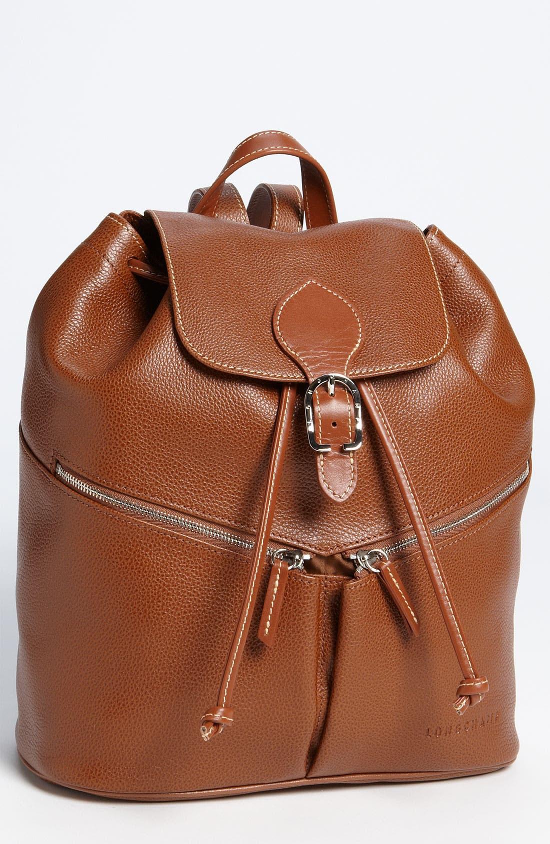 Main Image - Longchamp Leather Backpack