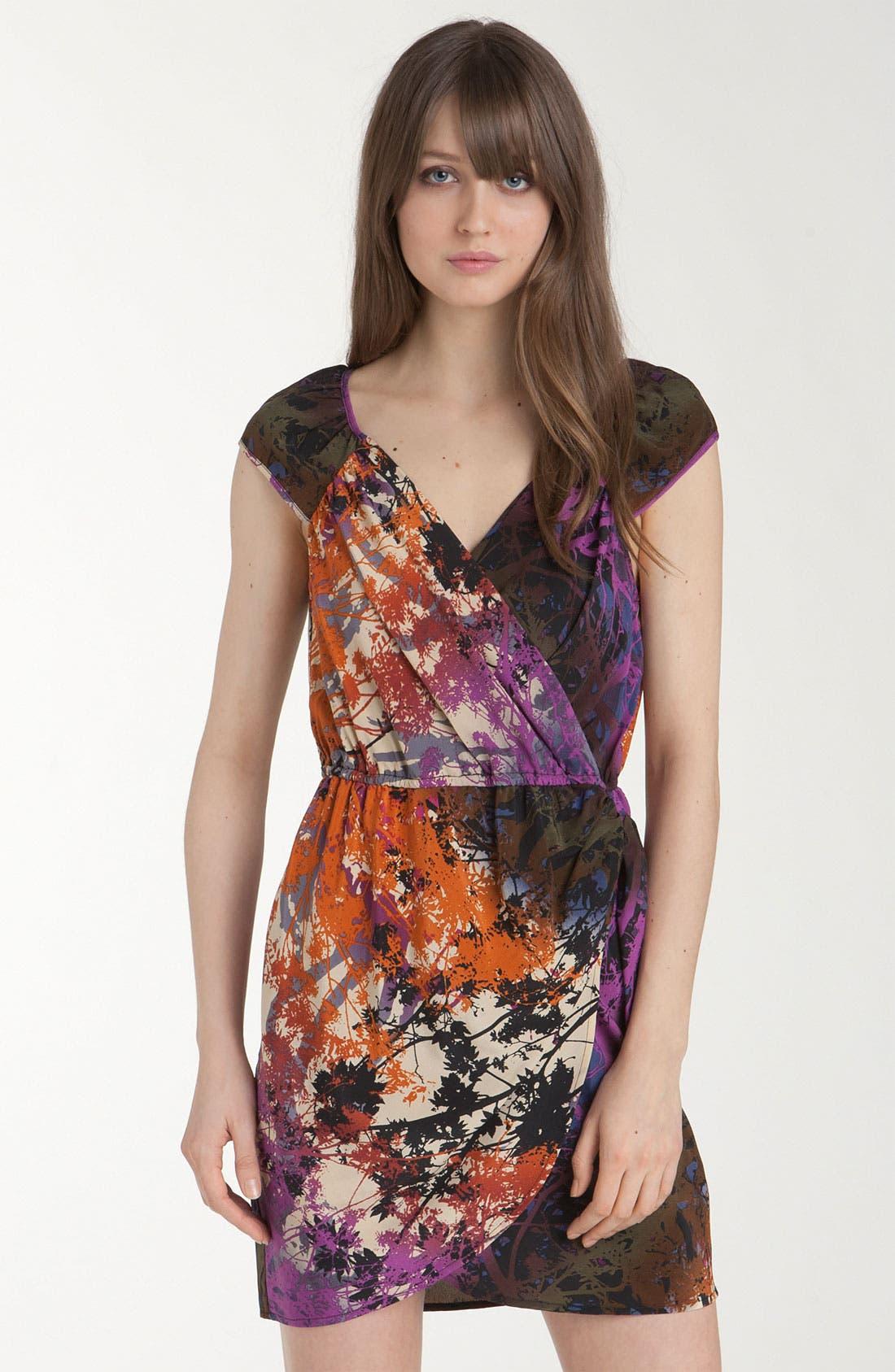 Alternate Image 1 Selected - Charlie Jade 'Marie' Print Faux Wrap Dress