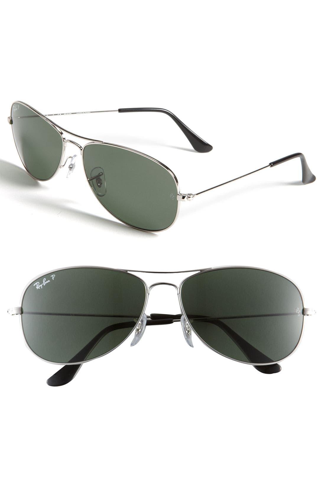 Main Image - Ray-Ban 'New Classic Aviator' 59mm Polarized Sunglasses