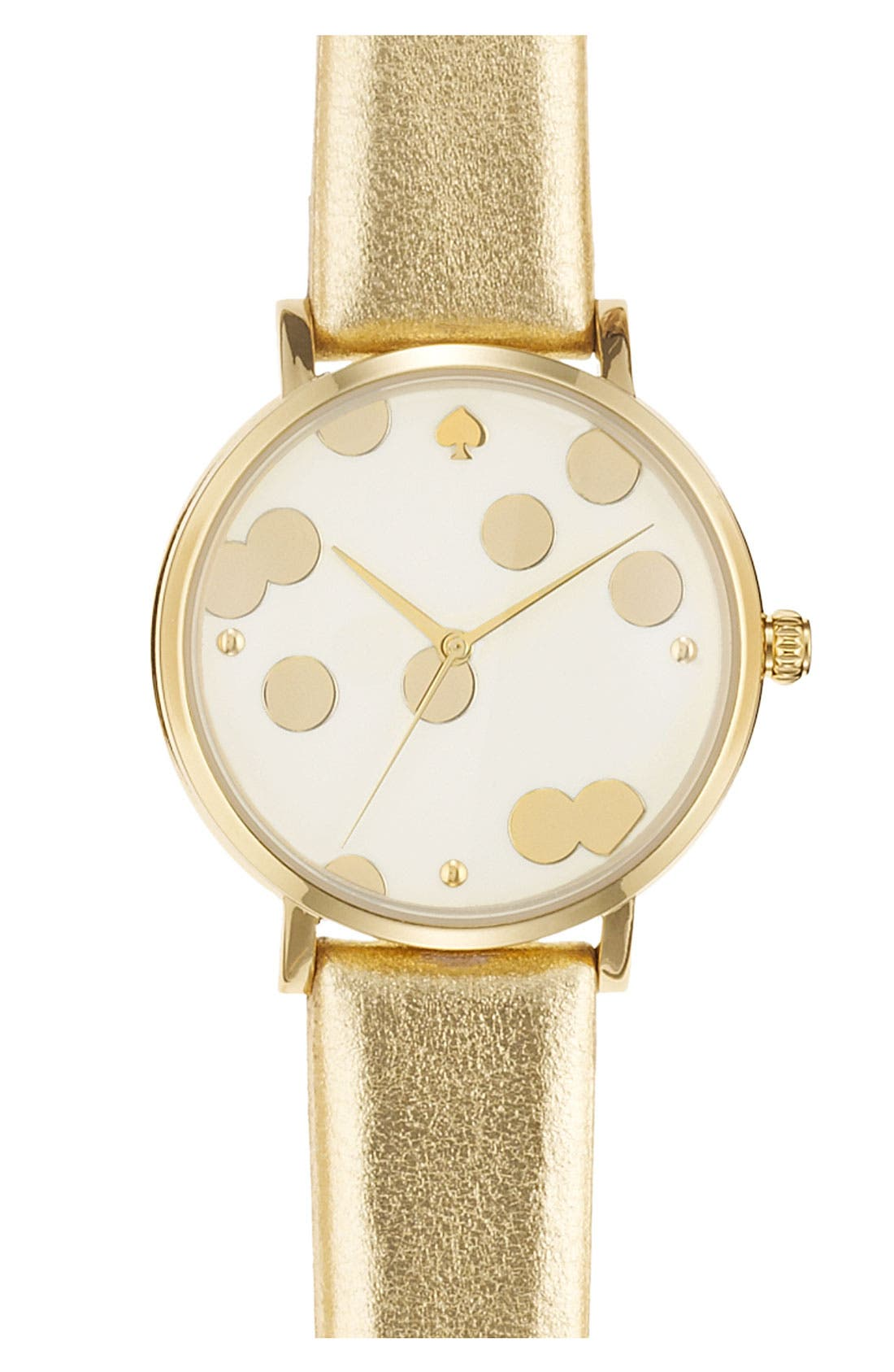 'metro' patterned dial watch, 34mm,                         Main,                         color, Gold/ Gold