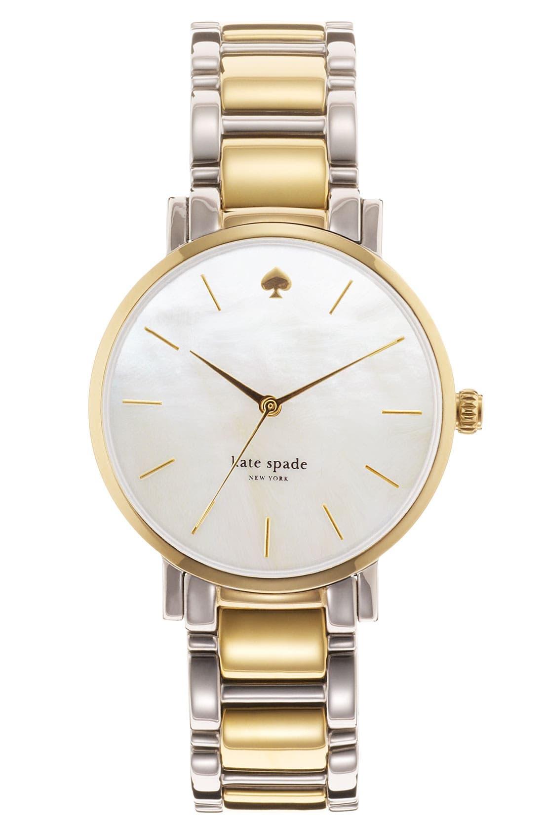 Alternate Image 1 Selected - kate spade new york 'gramercy' bracelet watch, 34mm