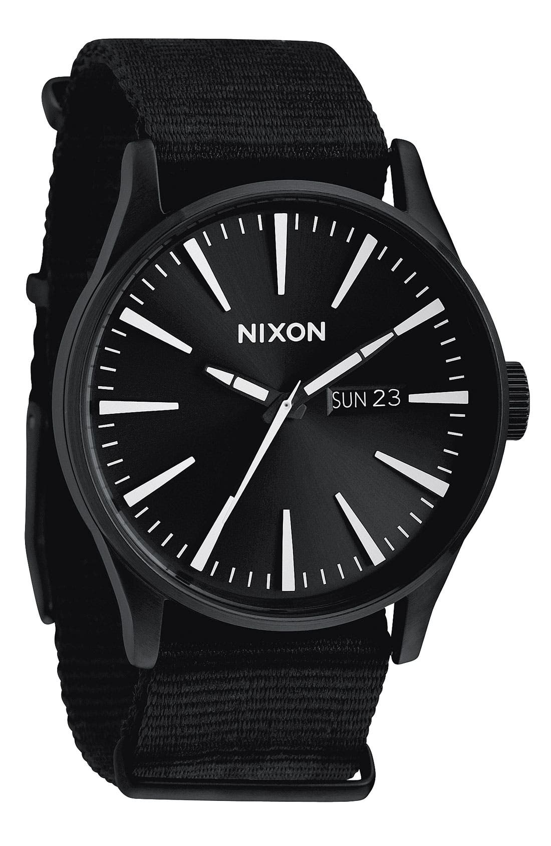 Main Image - Nixon 'The Sentry' Nylon Strap Watch