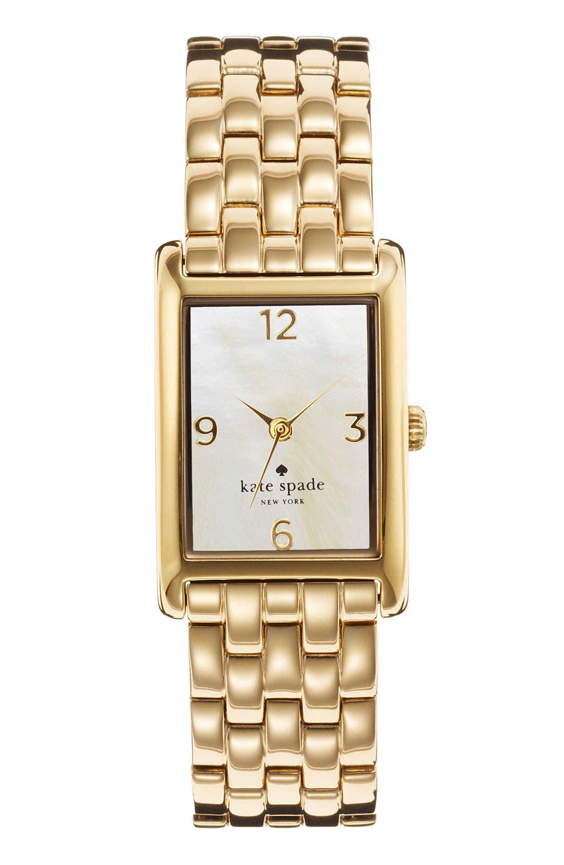 Alternate Image 1 Selected - kate spade new york 'cooper' bracelet watch, 21mm