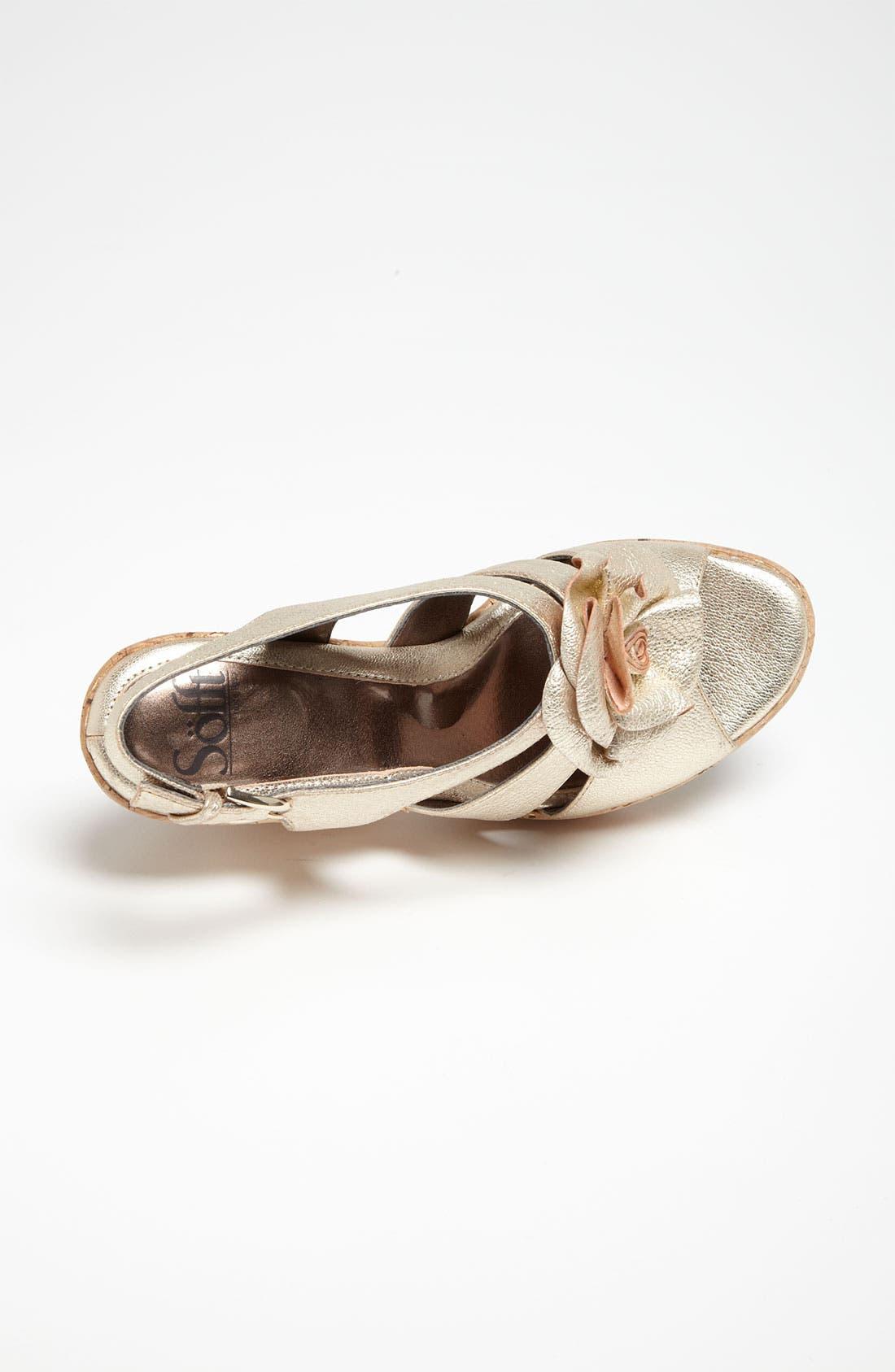 'Odelle' Sandal,                             Alternate thumbnail 3, color,                             Gold