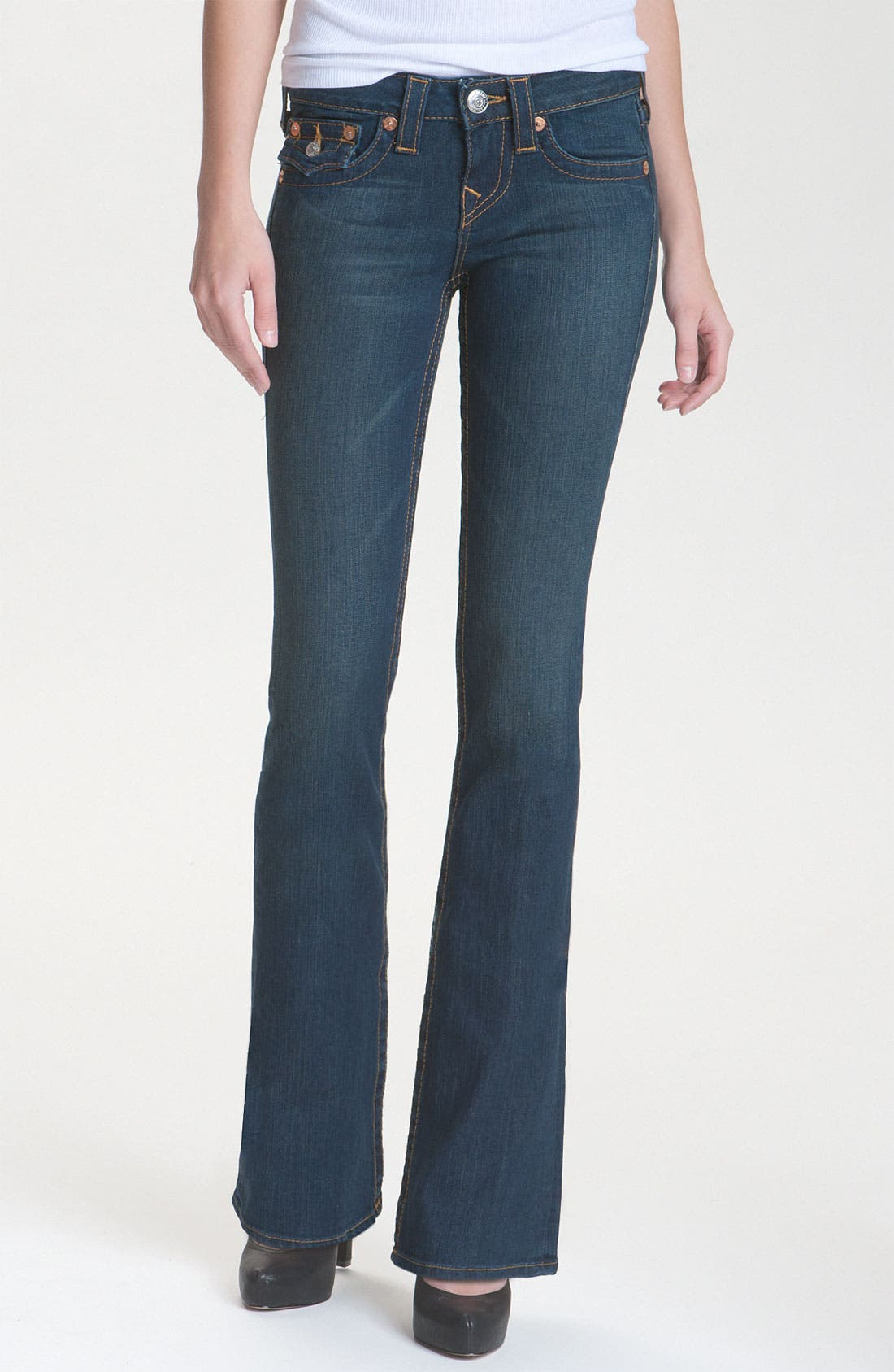 Alternate Image 1 Selected - True Religion Brand Jeans 'Becky' Bootcut Jeans (Vera Cruz) (Petite)