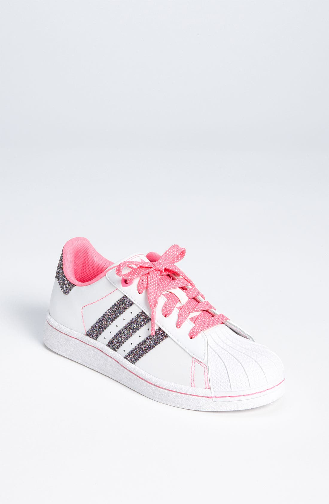 Alternate Image 1 Selected - adidas 'Sparkle Superstar 2' Sneaker (Toddler & Little Kid)