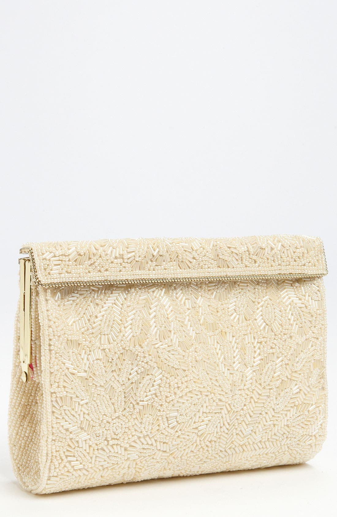 NINA Meadow Beaded Frame Clutch