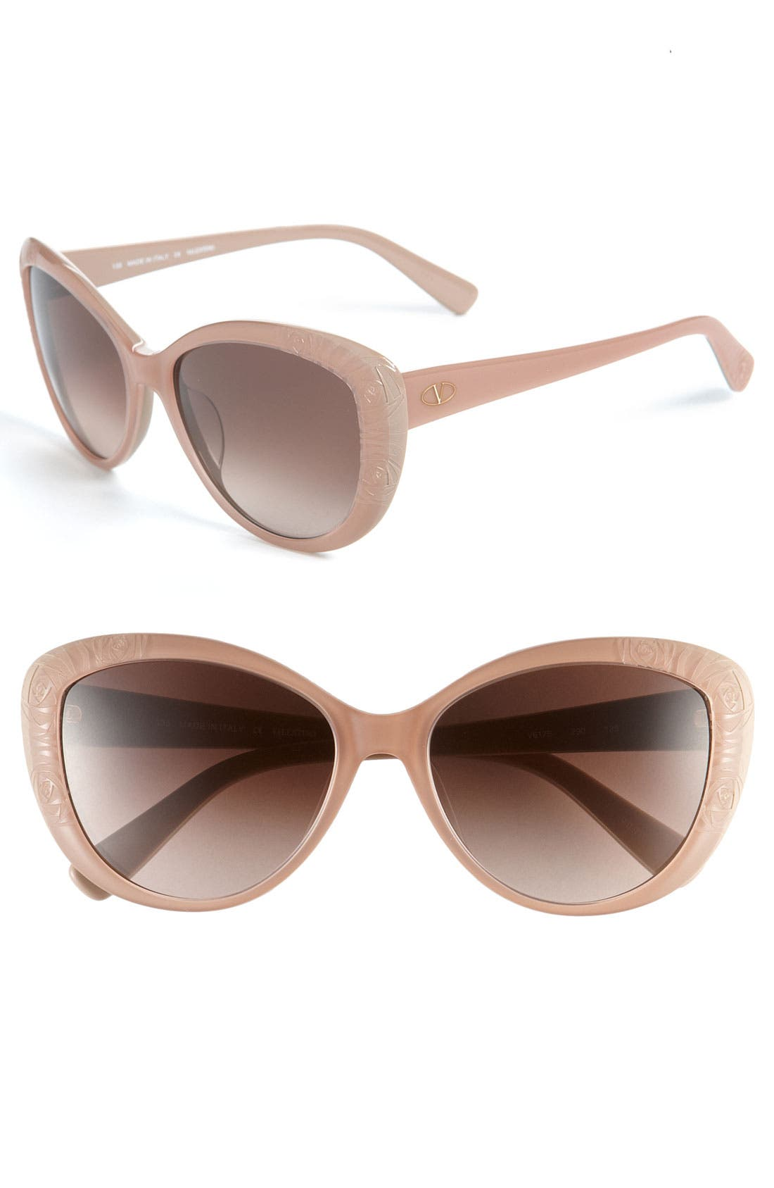 Alternate Image 1 Selected - Valentino 56mm Cat's Eye Sunglasses