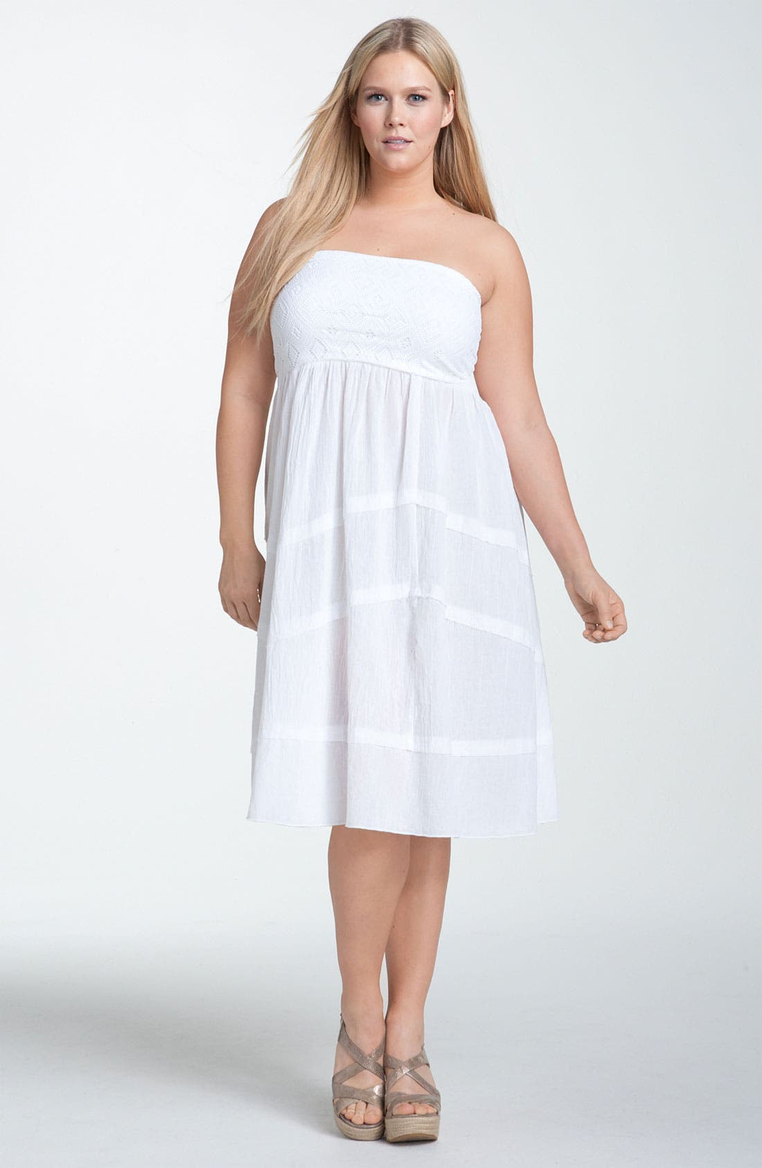 Alternate Image 1 Selected - Becca 'Lighten Up' Convertible Cover-Up Dress (Plus)