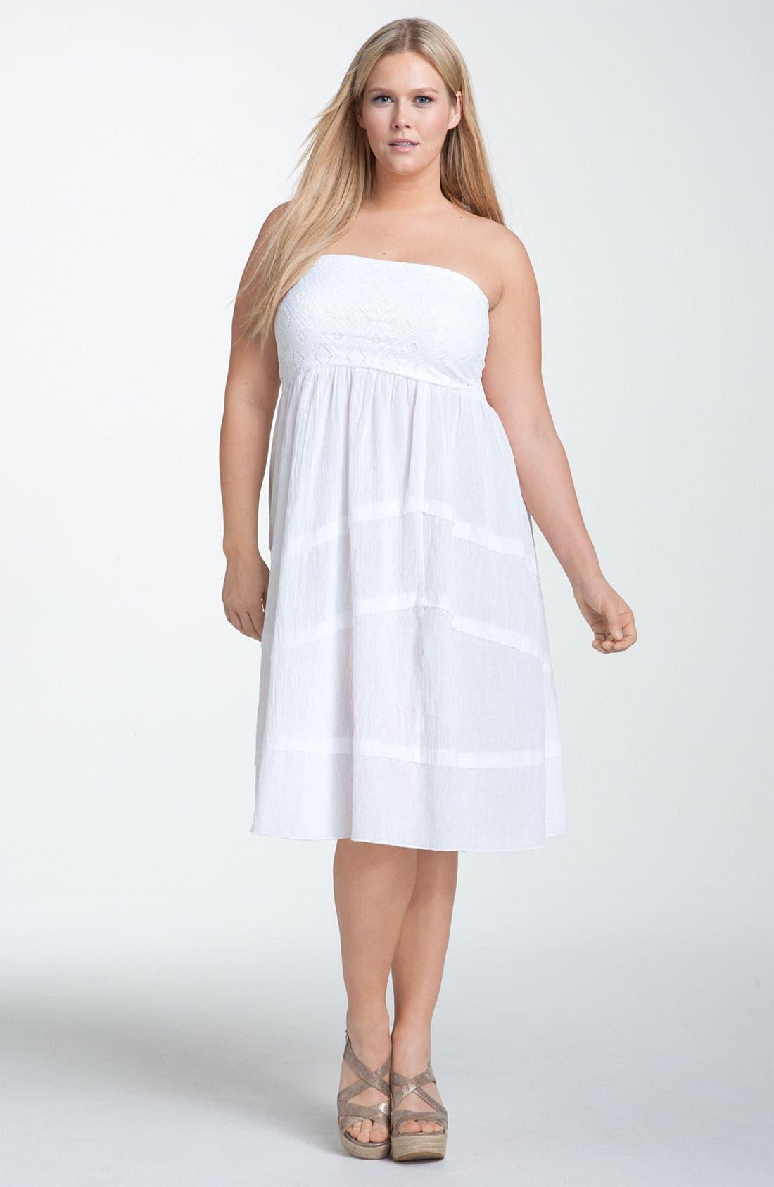 Main Image - Becca 'Lighten Up' Convertible Cover-Up Dress (Plus)