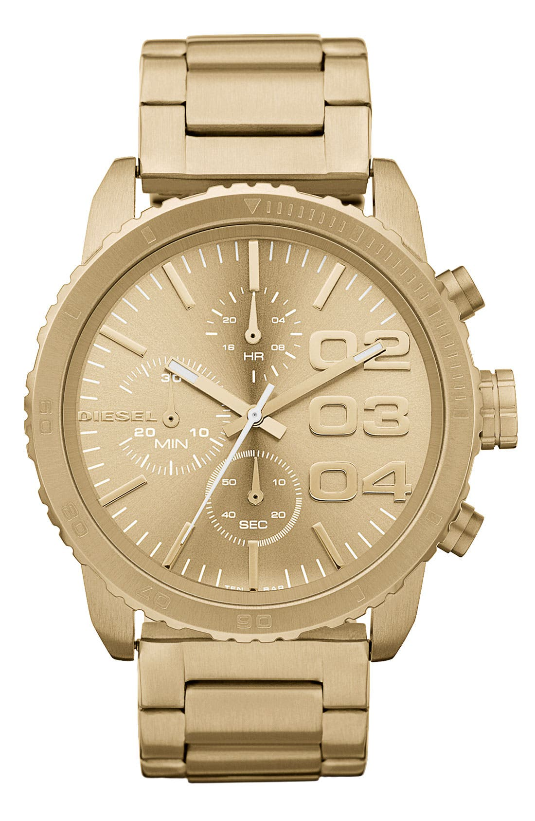 Alternate Image 1 Selected - DIESEL® 'Franchise' Chronograph Bracelet Watch, 42mm
