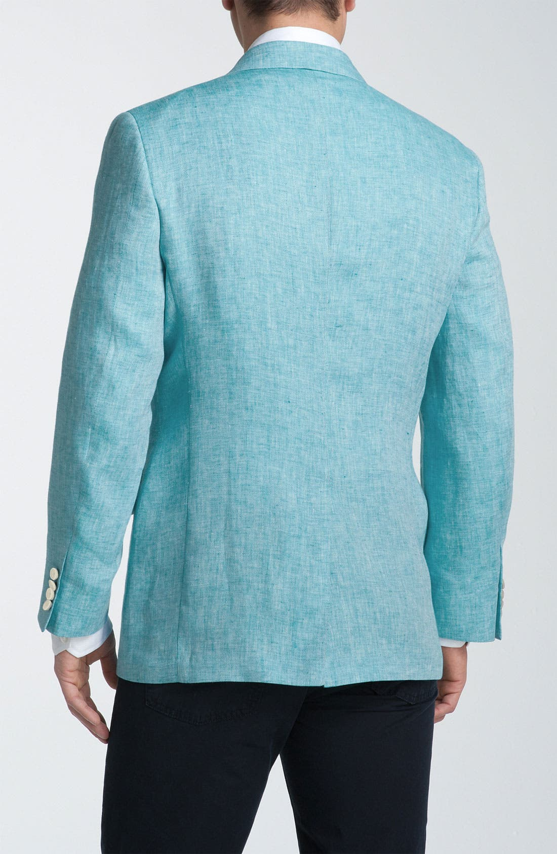 Alternate Image 2  - Joseph Abboud Herringbone Linen Sportcoat