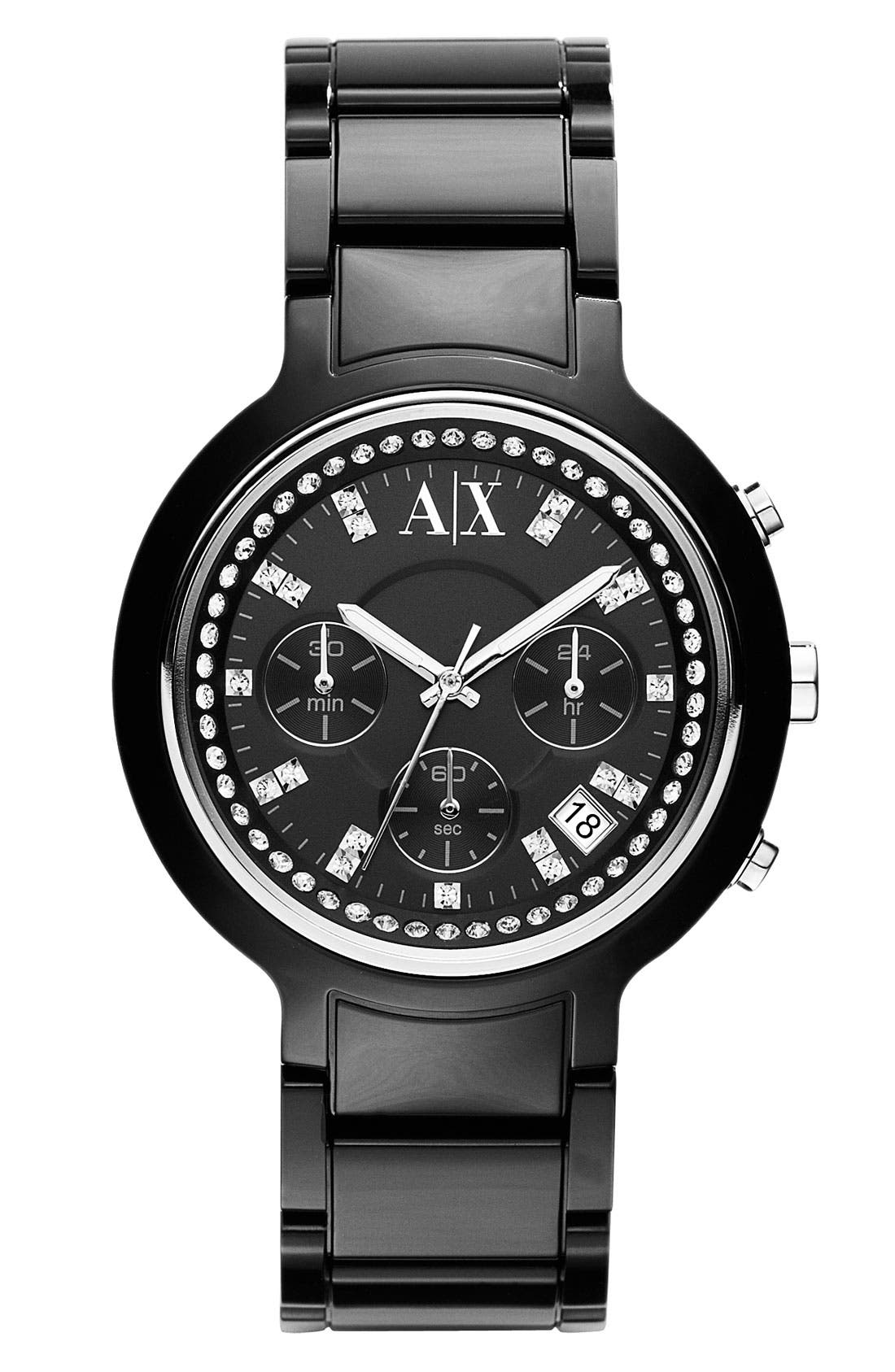 Alternate Image 1 Selected - AX Armani Exchange Chronograph Resin Watch
