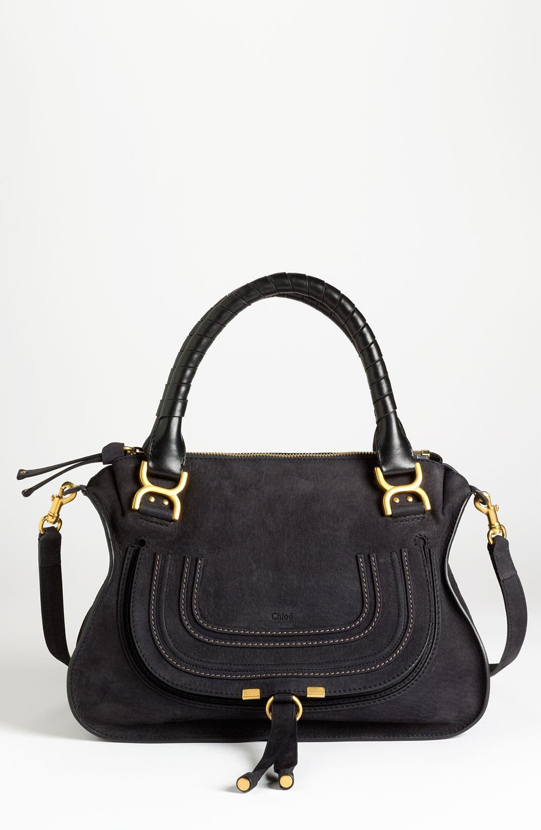 Alternate Image 1 Selected - Chloé 'Marcie -Small' Nubuck Leather Shoulder Bag