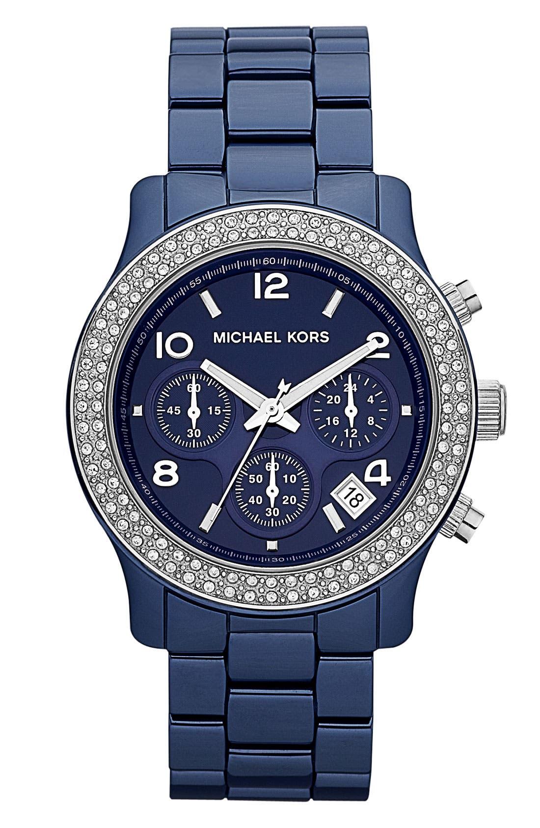 Main Image - Michael Kors 'Runway Ceramic' Watch, 40mm