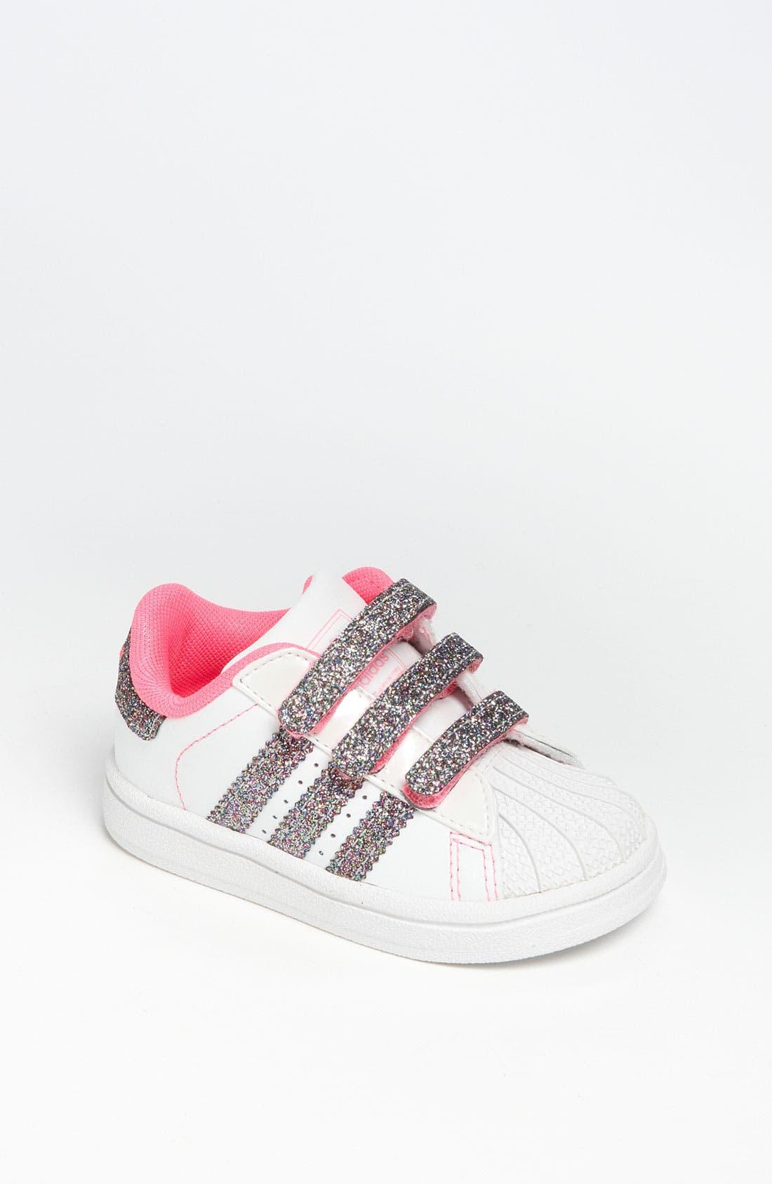 Alternate Image 1 Selected - adidas 'Sparkle Superstar 2' Sneaker (Baby, Walker & Toddler)