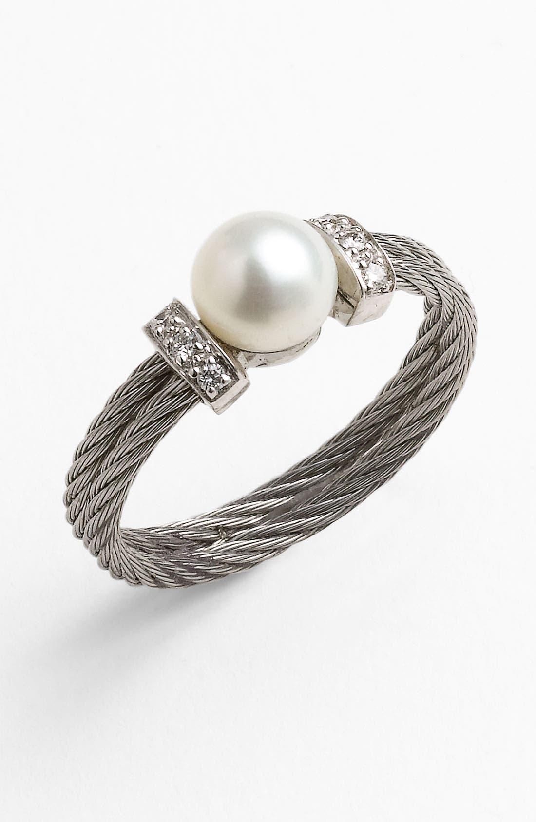 Alternate Image 1 Selected - ALOR® Pearl & Diamond Ring
