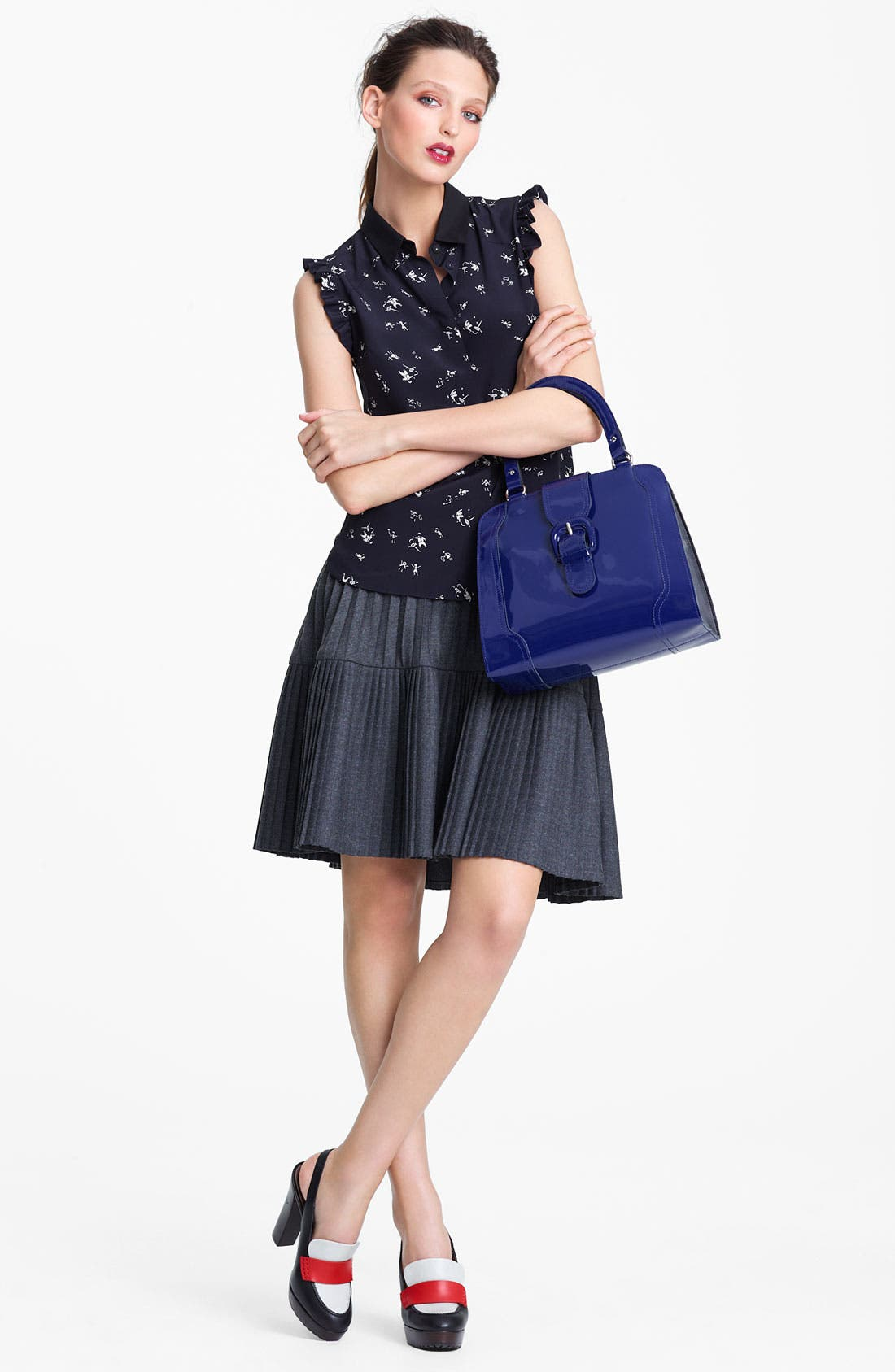 Alternate Image 4  - Marni Edition Pleated Mélange Flannel Skirt