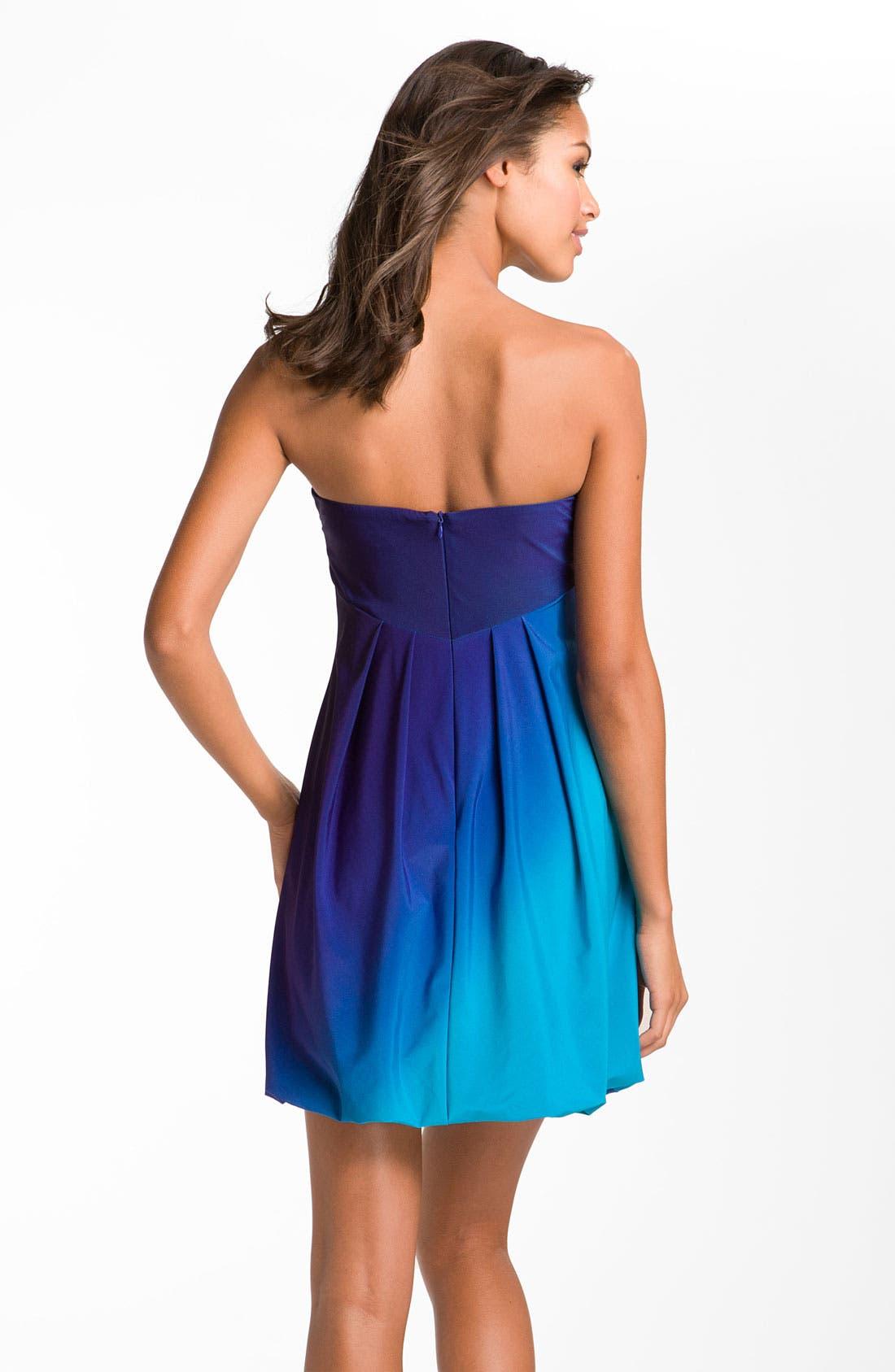 Alternate Image 2  - Xscape Strapless Ombré Jersey Dress