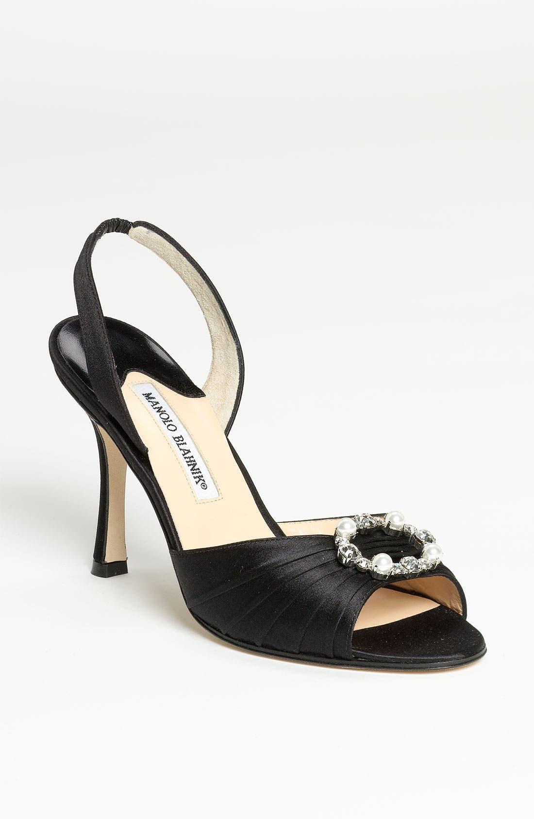 Main Image - Manolo Blahnik 'Sedaraby' Embellished Slingback Sandal
