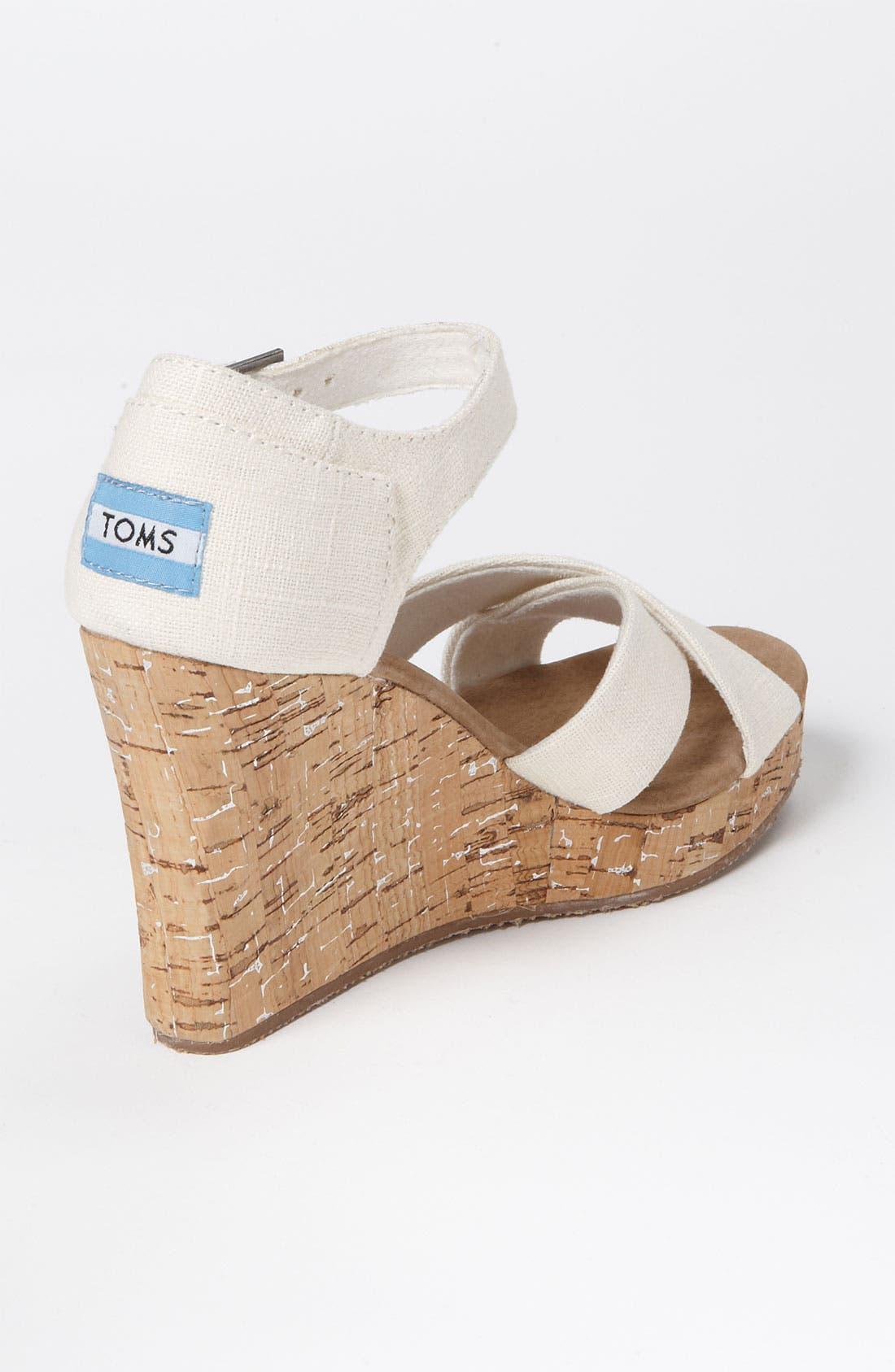 Alternate Image 2  - TOMS Linen Sandal