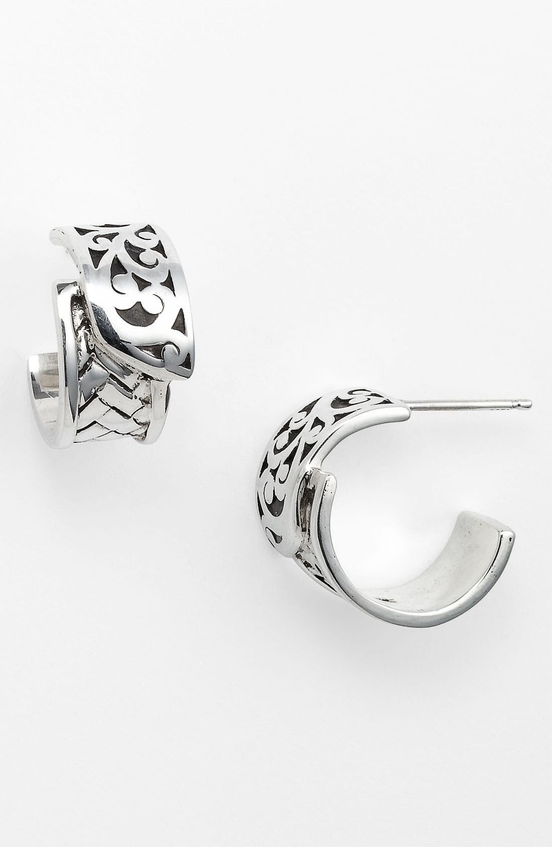 Alternate Image 1 Selected - Lois Hill 'Basket Weave' Hoop Earrings