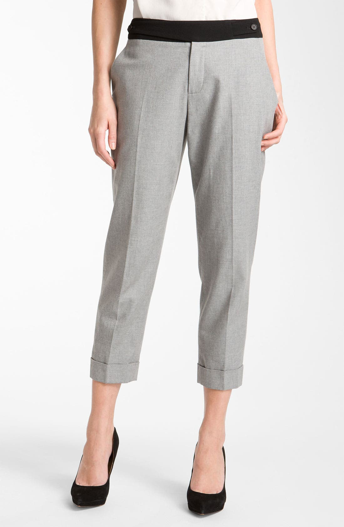 Alternate Image 1 Selected - Rachel Roy Cropped Flannel Pants