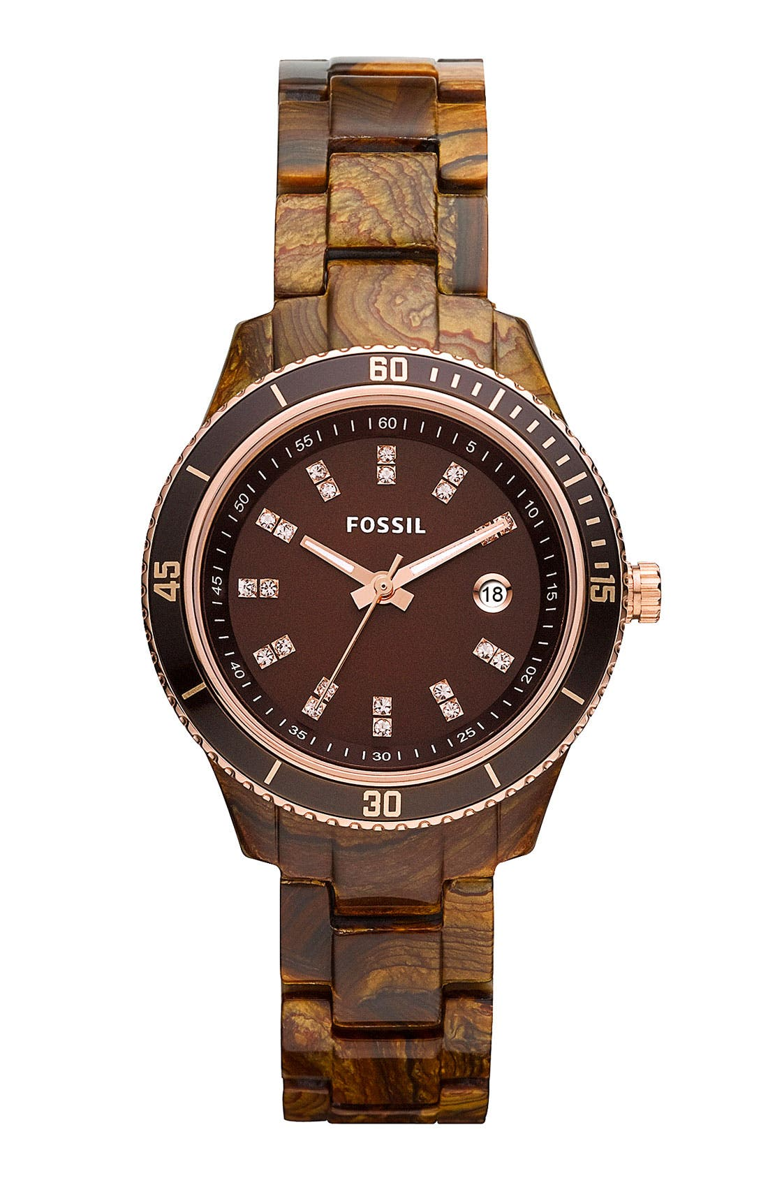 Alternate Image 1 Selected - Fossil 'Mini Stella' Round Dial Bracelet Watch, 31mm