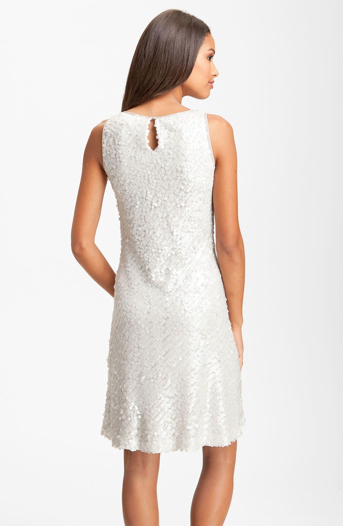 Alternate Image 2  - Donna Ricco Sleeveless Sequin Shift Dress