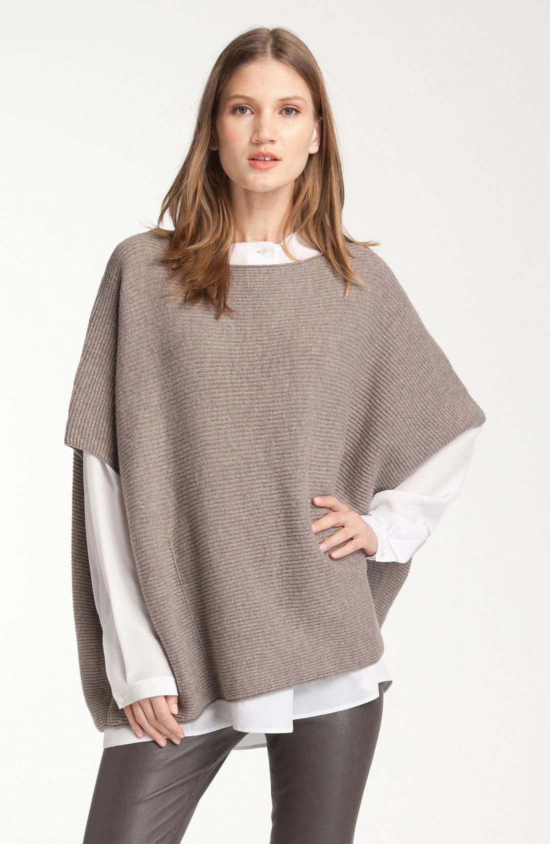 Main Image - Vince Rib Knit Wool & Cashmere Poncho