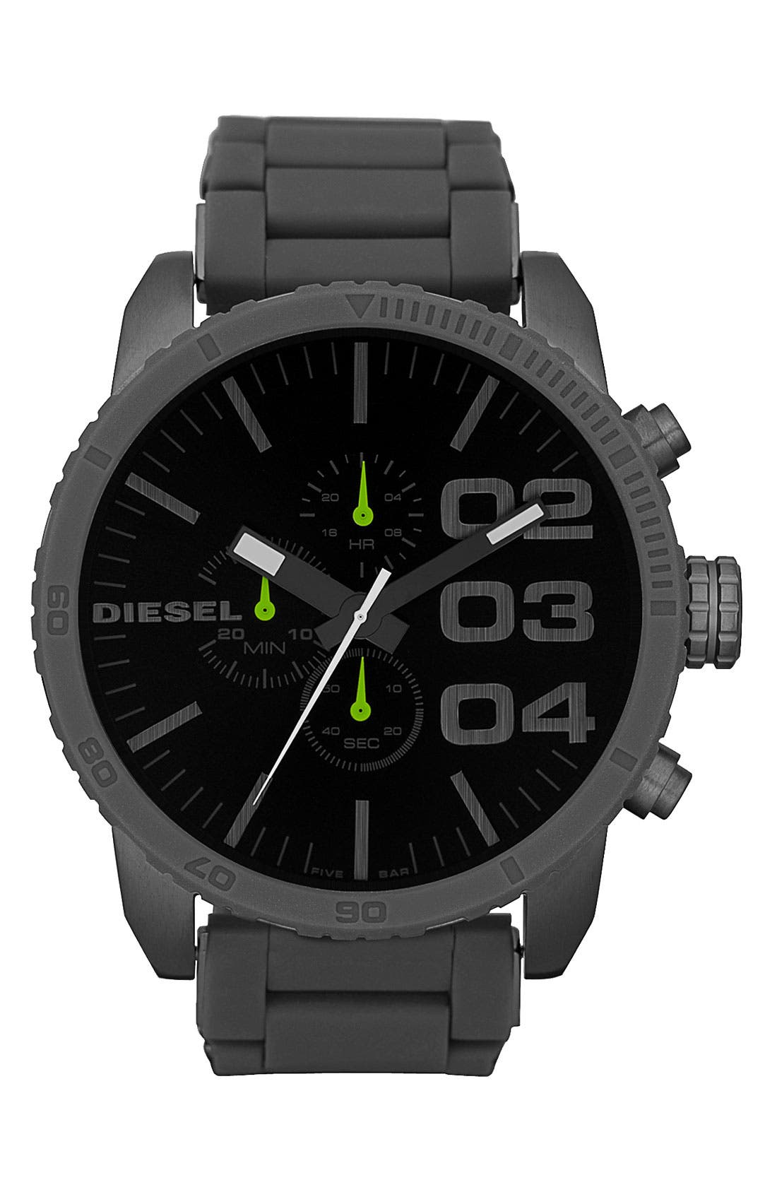 Alternate Image 1 Selected - DIESEL® 'Double Down' Large Chronograph Watch, 52mm