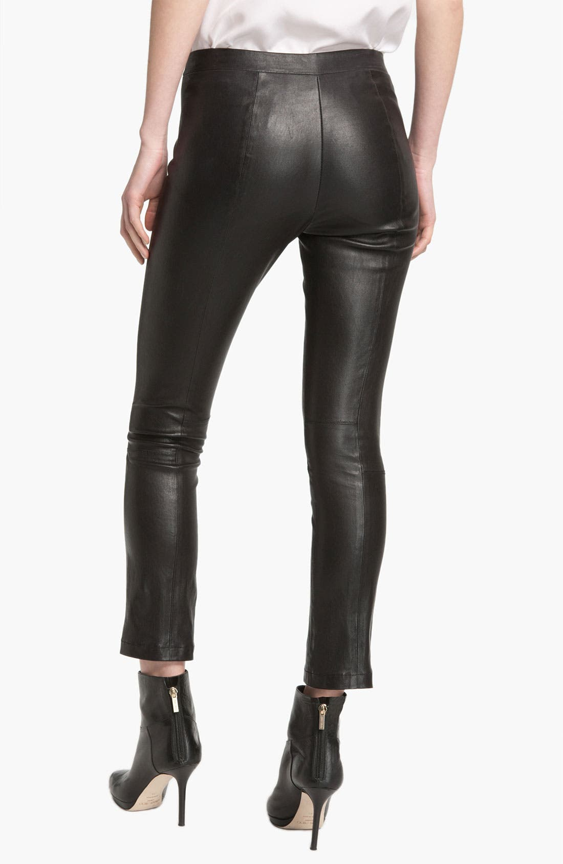 Alternate Image 2  - Vince Crop Leather Legging