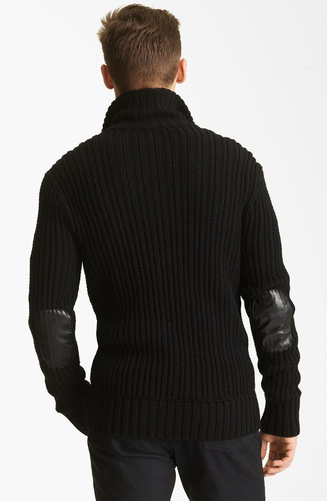 Alternate Image 2  - John Varvatos Collection Zip Knit Sweater