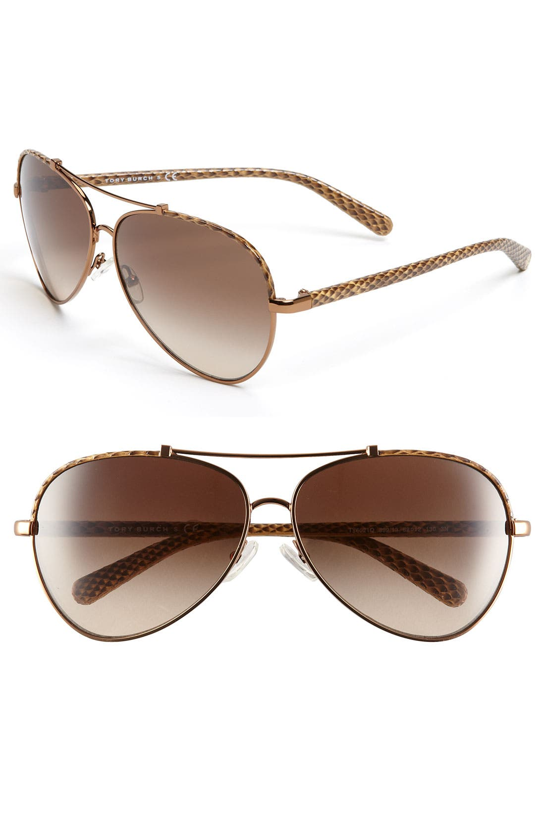 Alternate Image 1 Selected - Tory Burch 62mm Aviator Sunglasses
