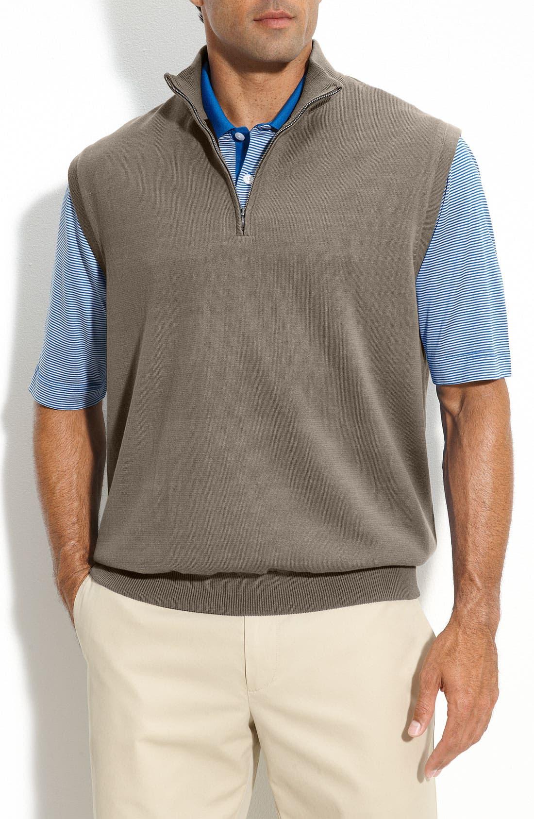 Main Image - Cutter & Buck 'Sandpoint' Half Zip Golf Vest