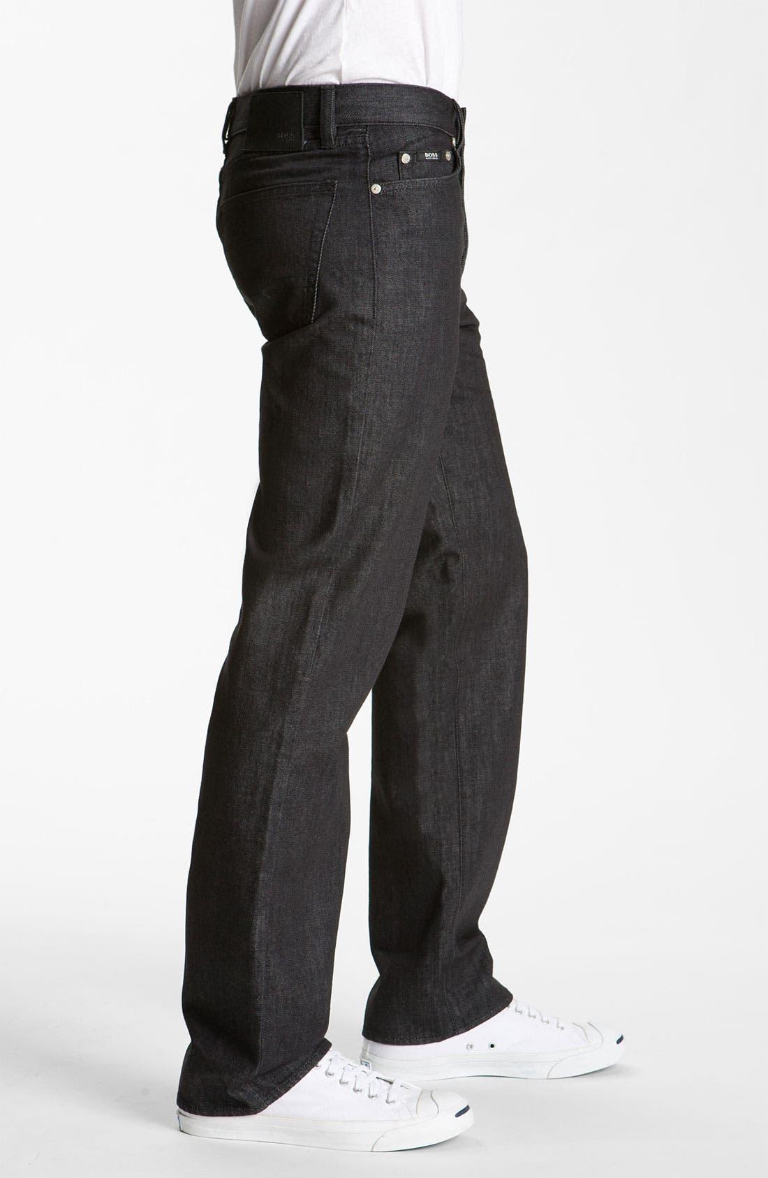 Alternate Image 3  - BOSS Black 'Texas' Bootcut Jeans (Black)